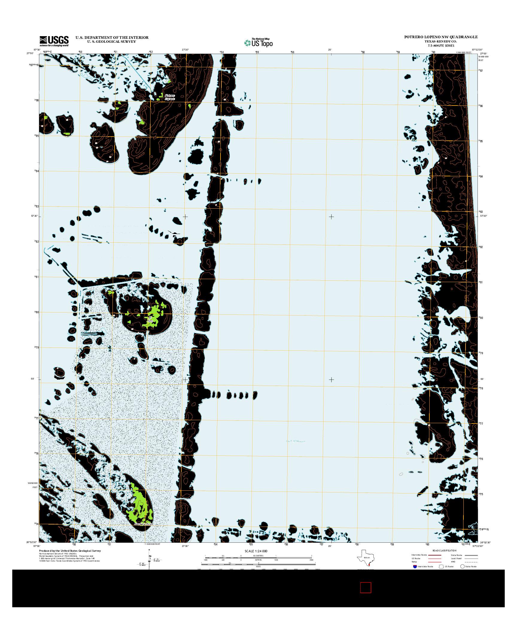 USGS US TOPO 7.5-MINUTE MAP FOR POTRERO LOPENO NW, TX 2013