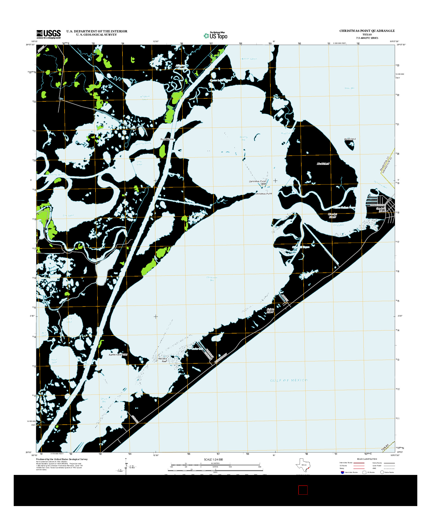 USGS US TOPO 7.5-MINUTE MAP FOR CHRISTMAS POINT, TX 2013