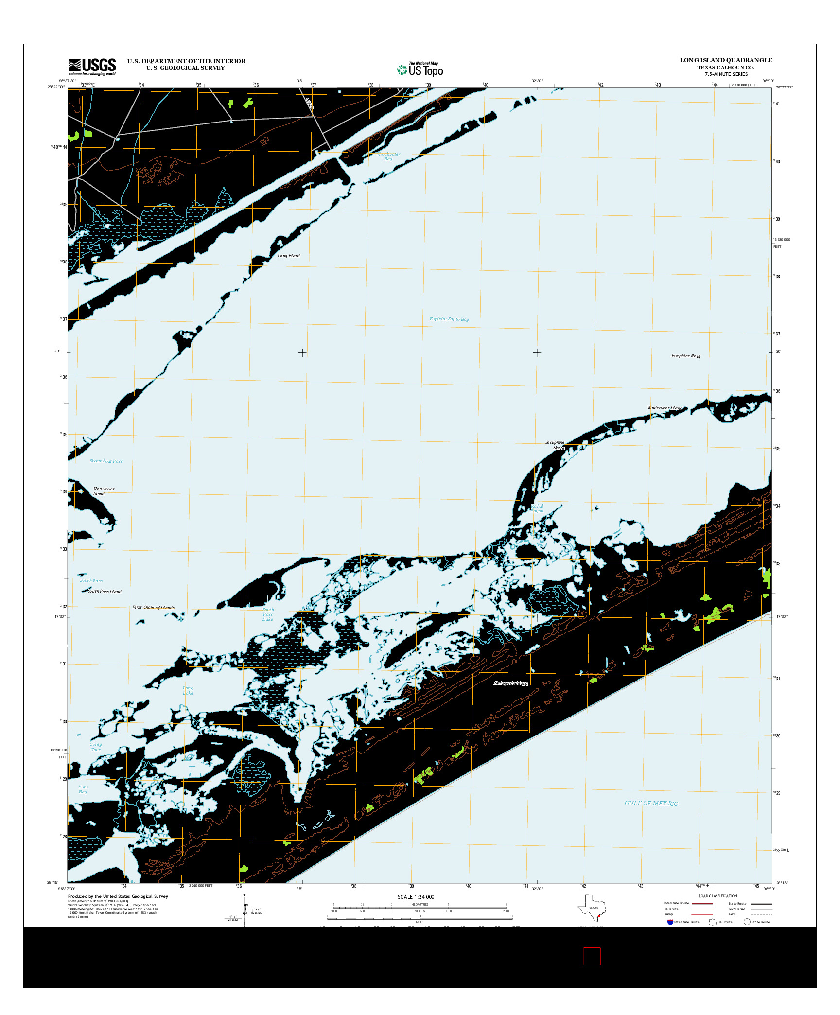 USGS US TOPO 7.5-MINUTE MAP FOR LONG ISLAND, TX 2013