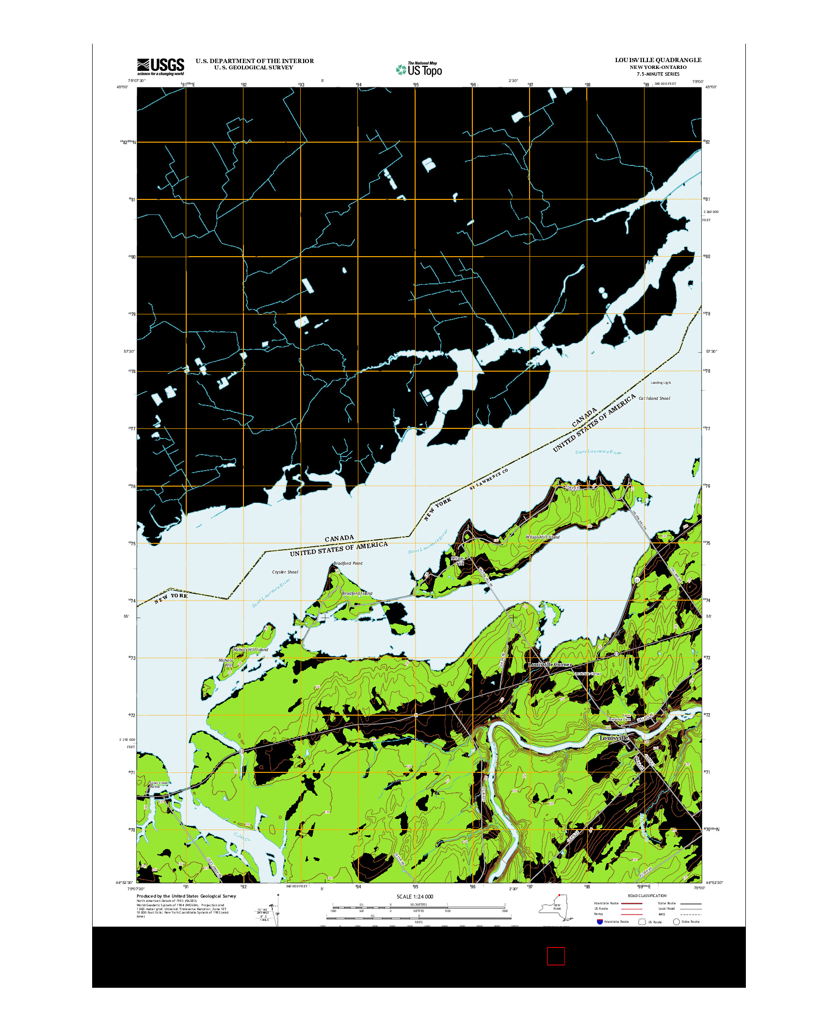 USGS US TOPO 7.5-MINUTE MAP FOR LOUISVILLE, NY-ON 2013