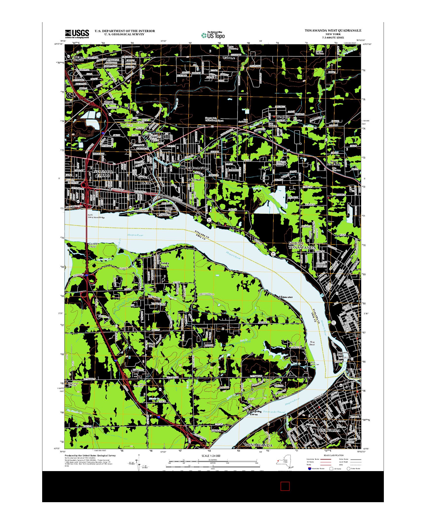 USGS US TOPO 7.5-MINUTE MAP FOR TONAWANDA WEST, NY 2013