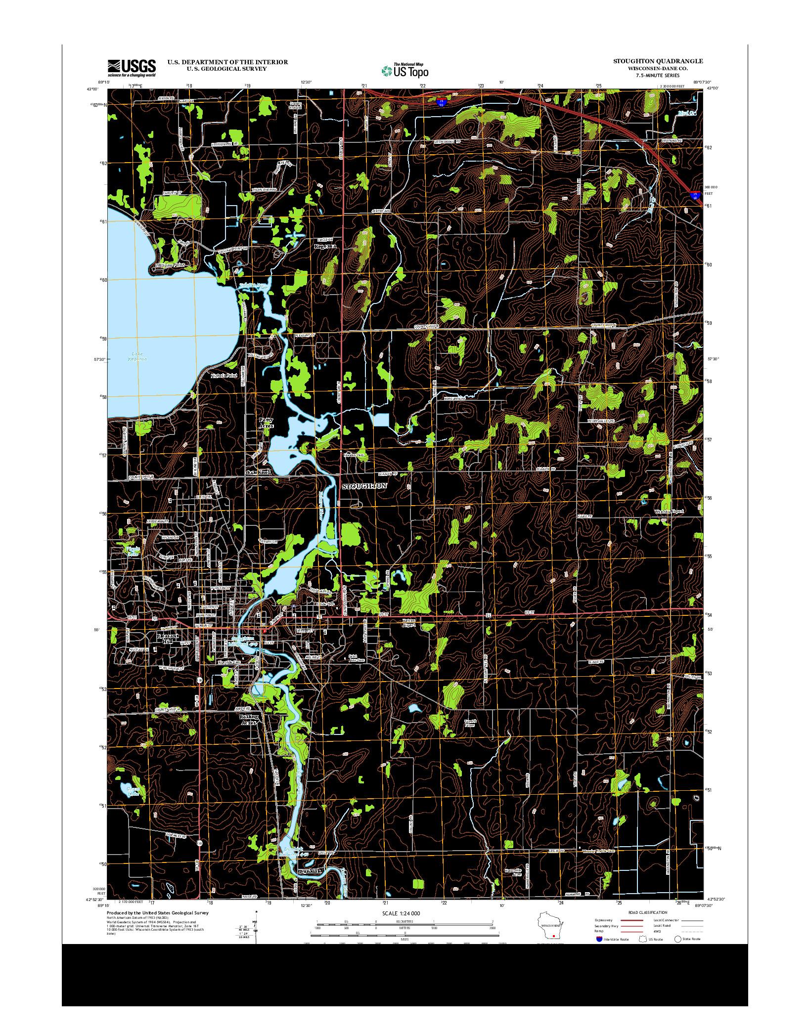 USGS US TOPO 7.5-MINUTE MAP FOR STOUGHTON, WI 2013