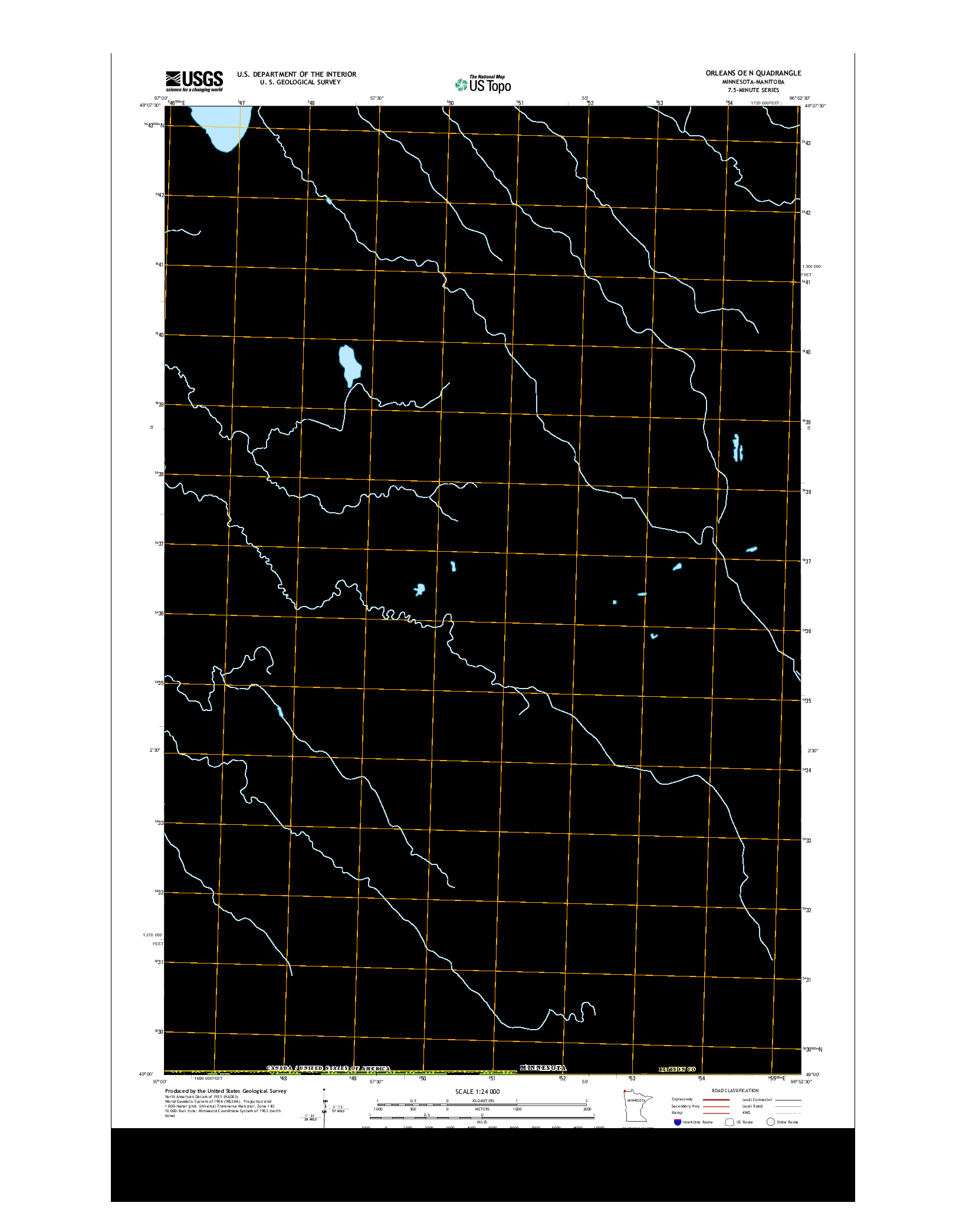 USGS US TOPO 7.5-MINUTE MAP FOR ORLEANS OE N, MN-MB 2013