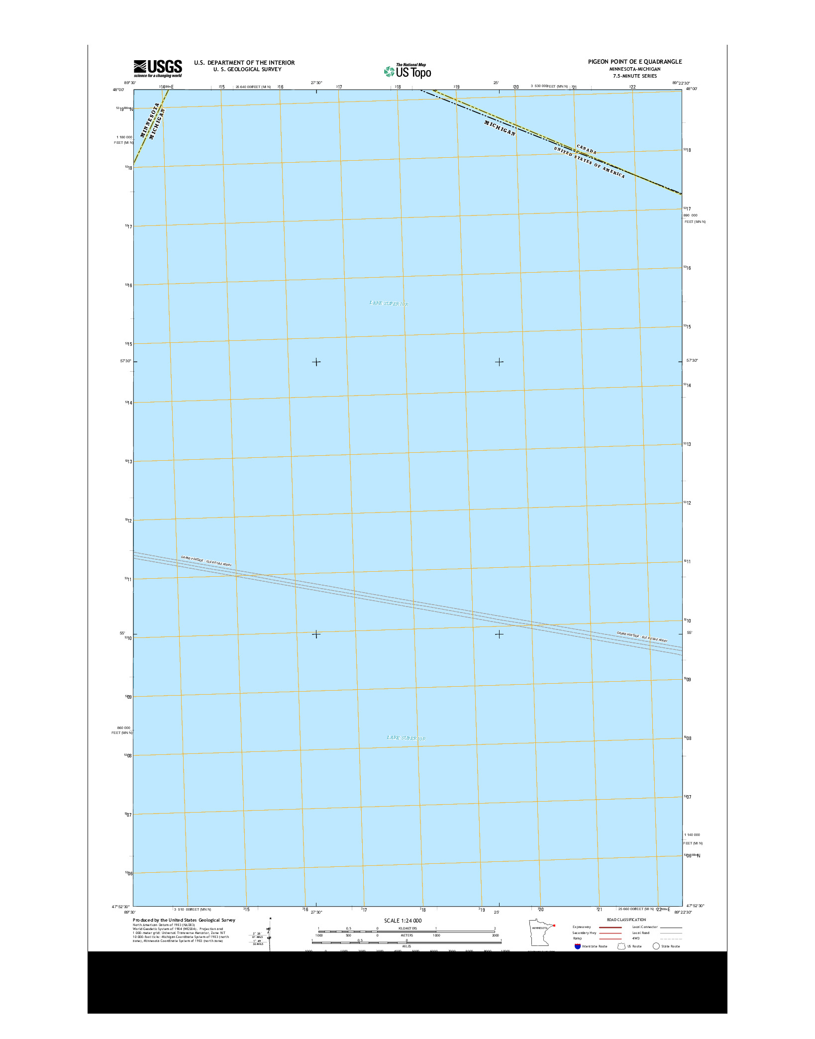 USGS US TOPO 7.5-MINUTE MAP FOR PIGEON POINT OE E, MN-MI 2013