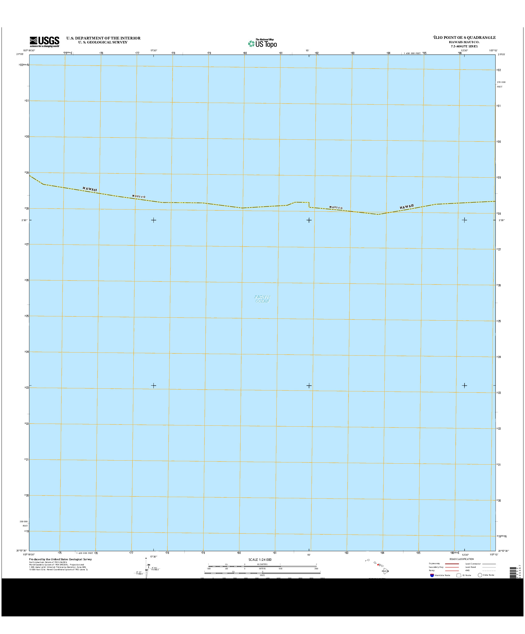 USGS US TOPO 7.5-MINUTE MAP FOR `ILIO POINT OE S, HI 2013