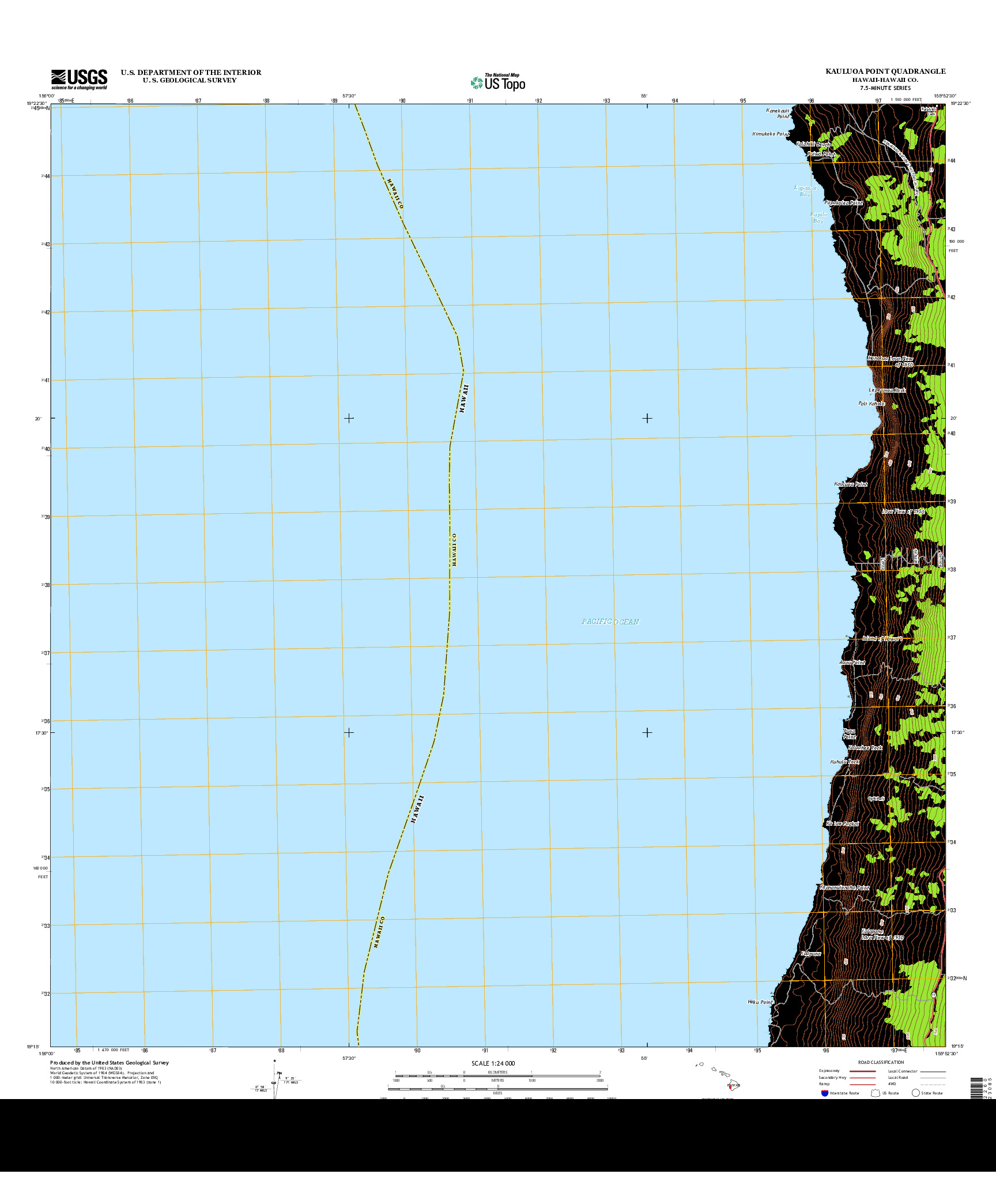 USGS US TOPO 7.5-MINUTE MAP FOR KAULUOA POINT, HI 2013