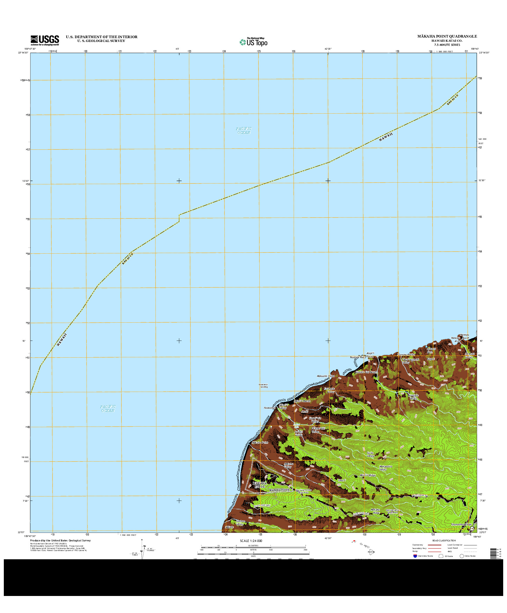USGS US TOPO 7.5-MINUTE MAP FOR MAKAHA POINT, HI 2013