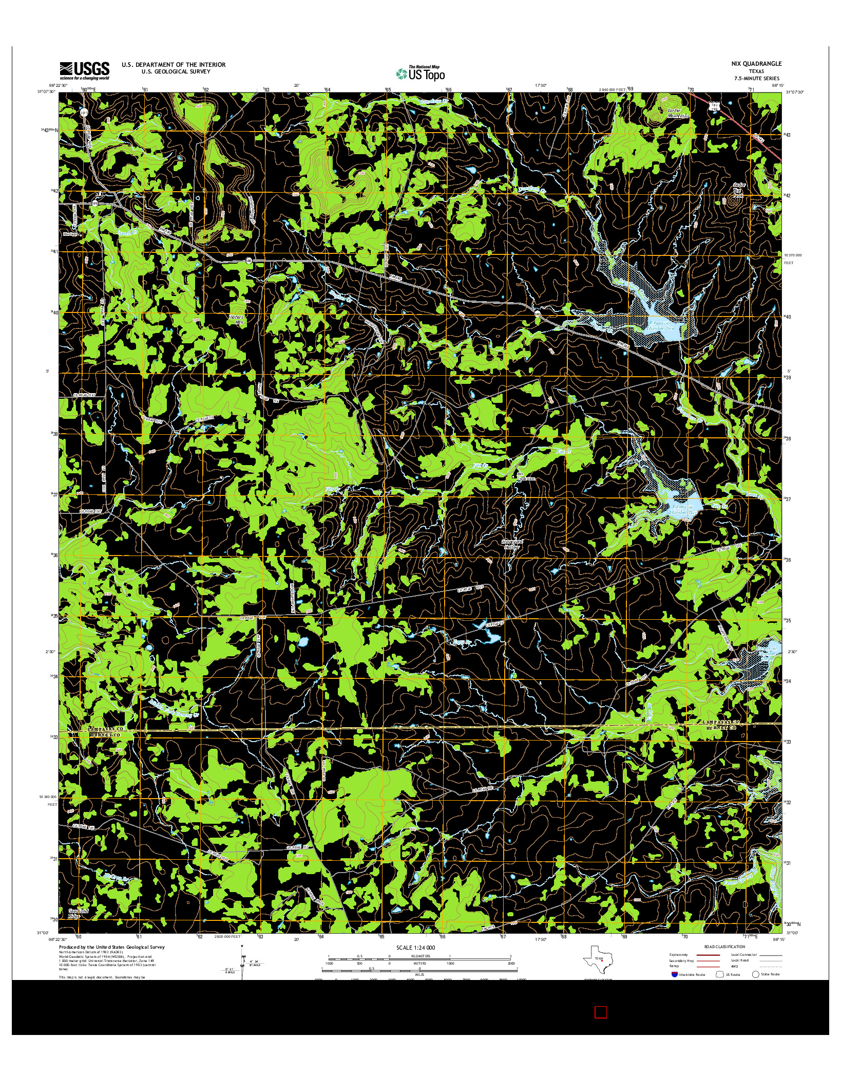 USGS US TOPO 7.5-MINUTE MAP FOR NIX, TX 2014