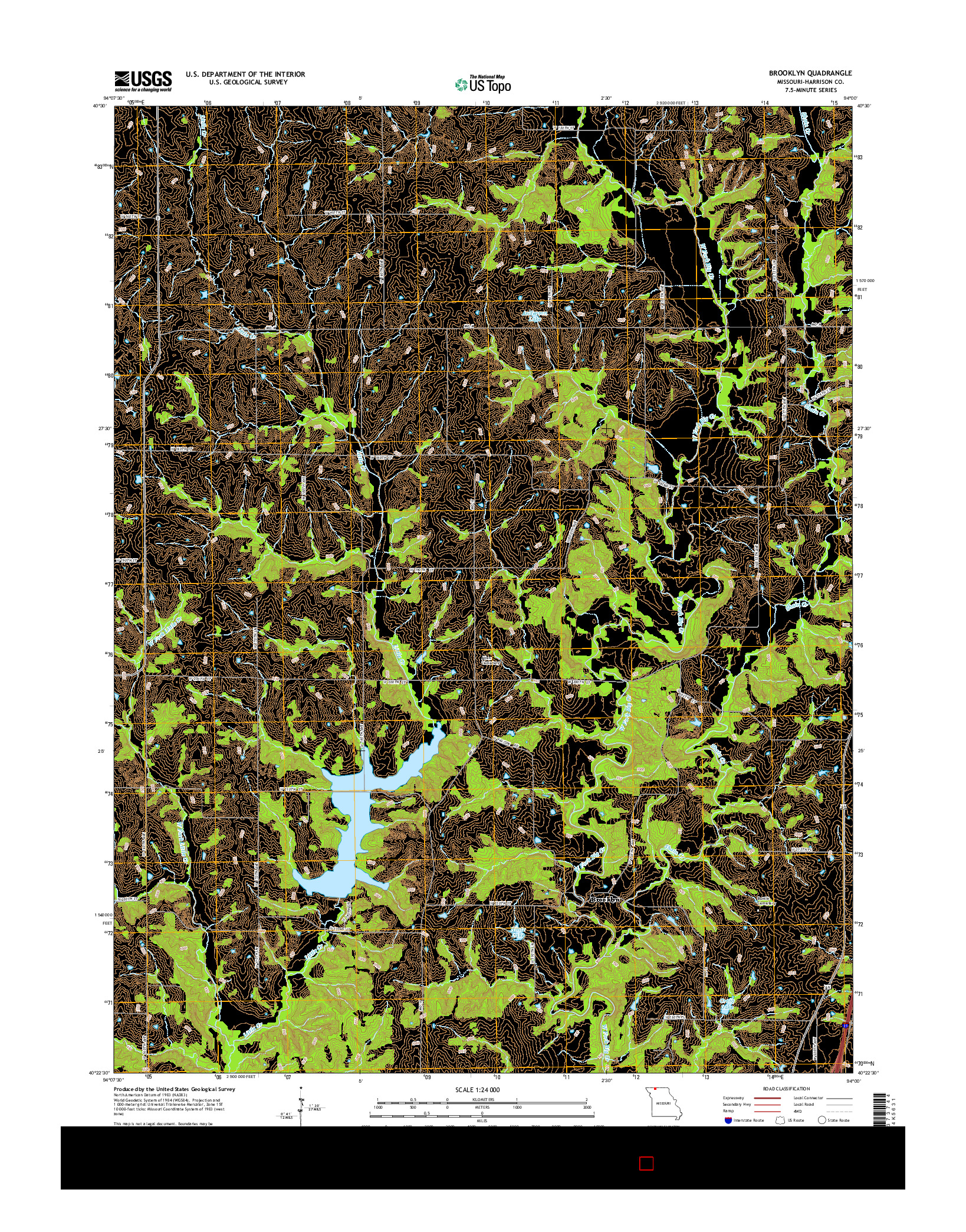 USGS US TOPO 7.5-MINUTE MAP FOR BROOKLYN, MO 2014