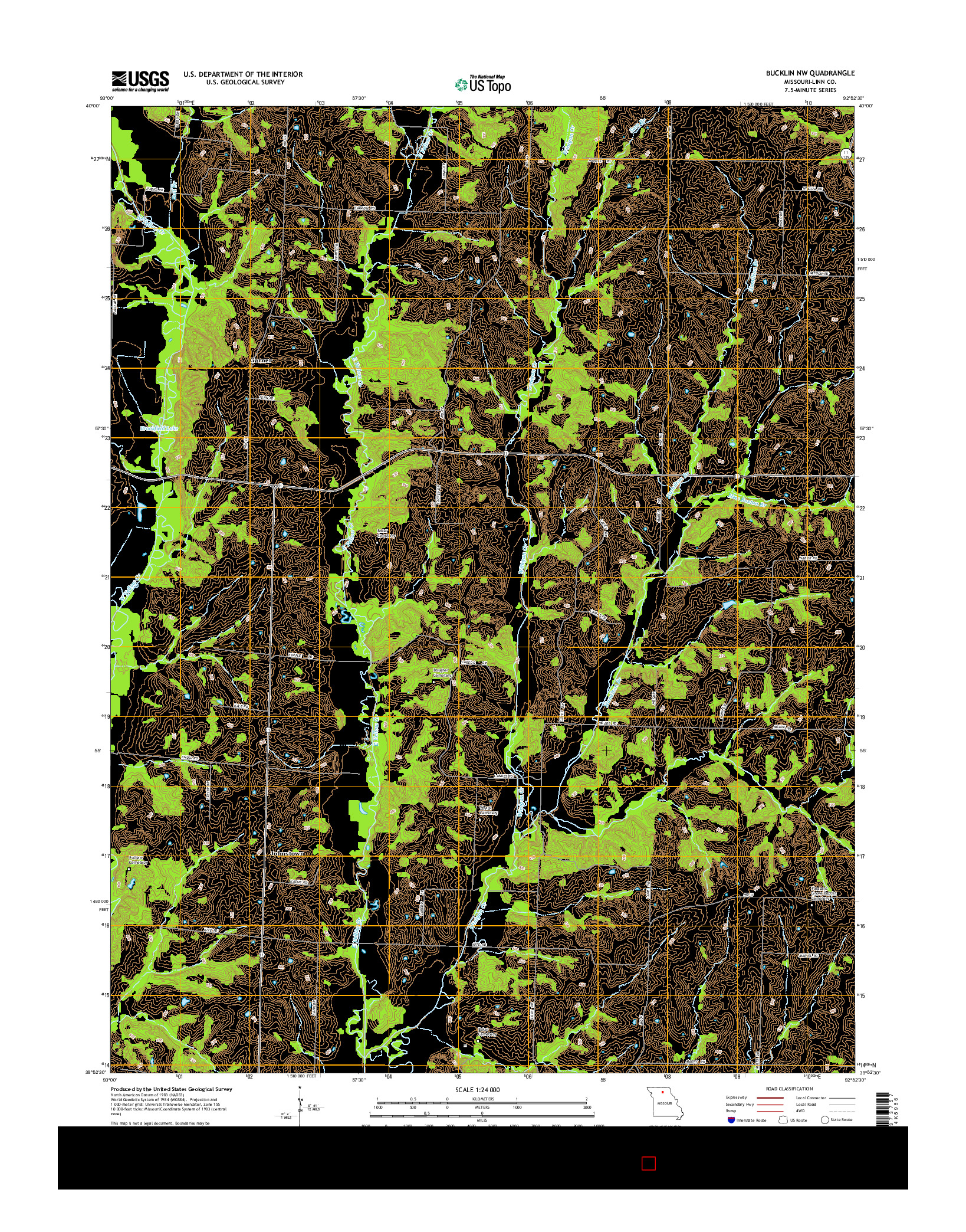 USGS US TOPO 7.5-MINUTE MAP FOR BUCKLIN NW, MO 2014