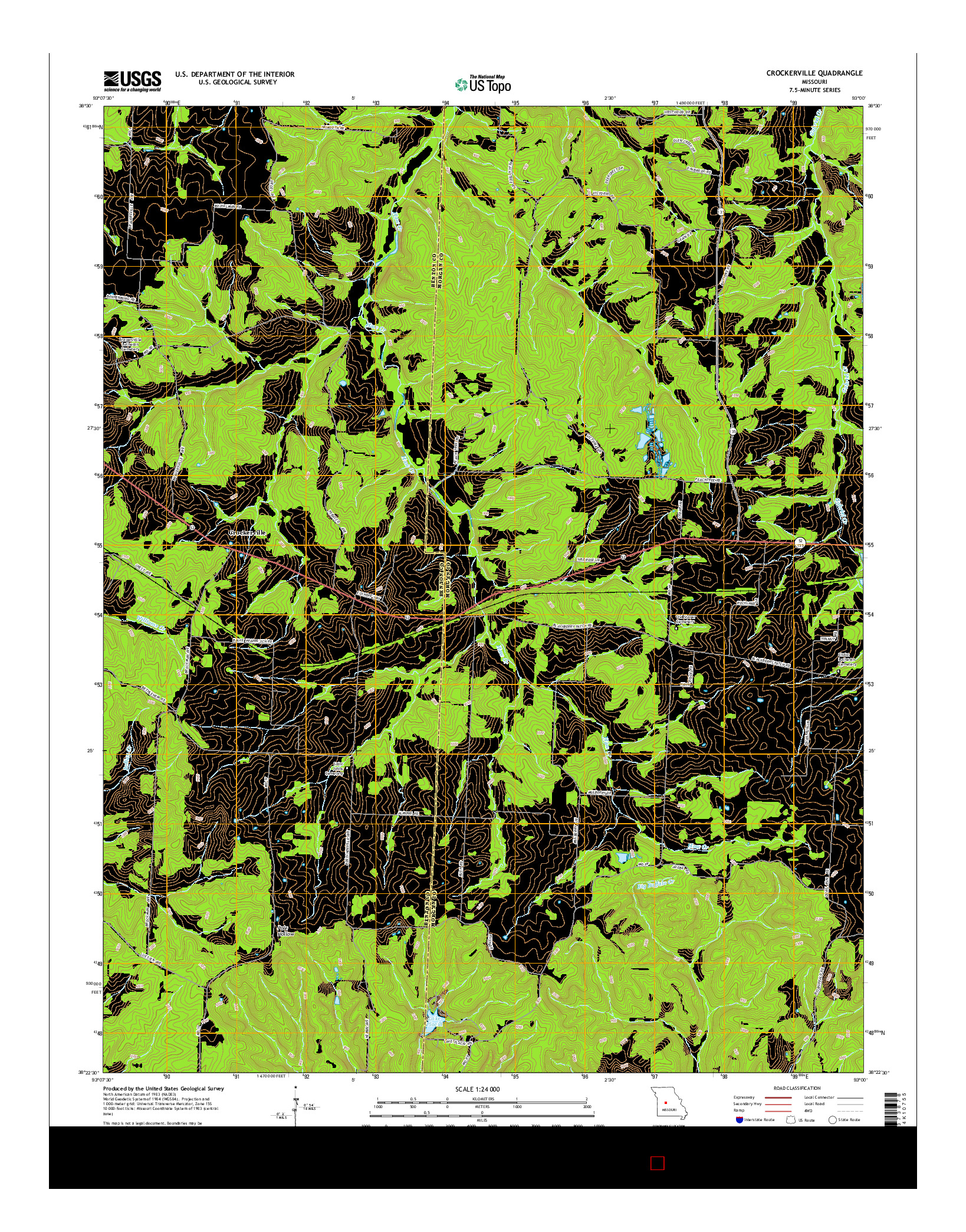 USGS US TOPO 7.5-MINUTE MAP FOR CROCKERVILLE, MO 2014