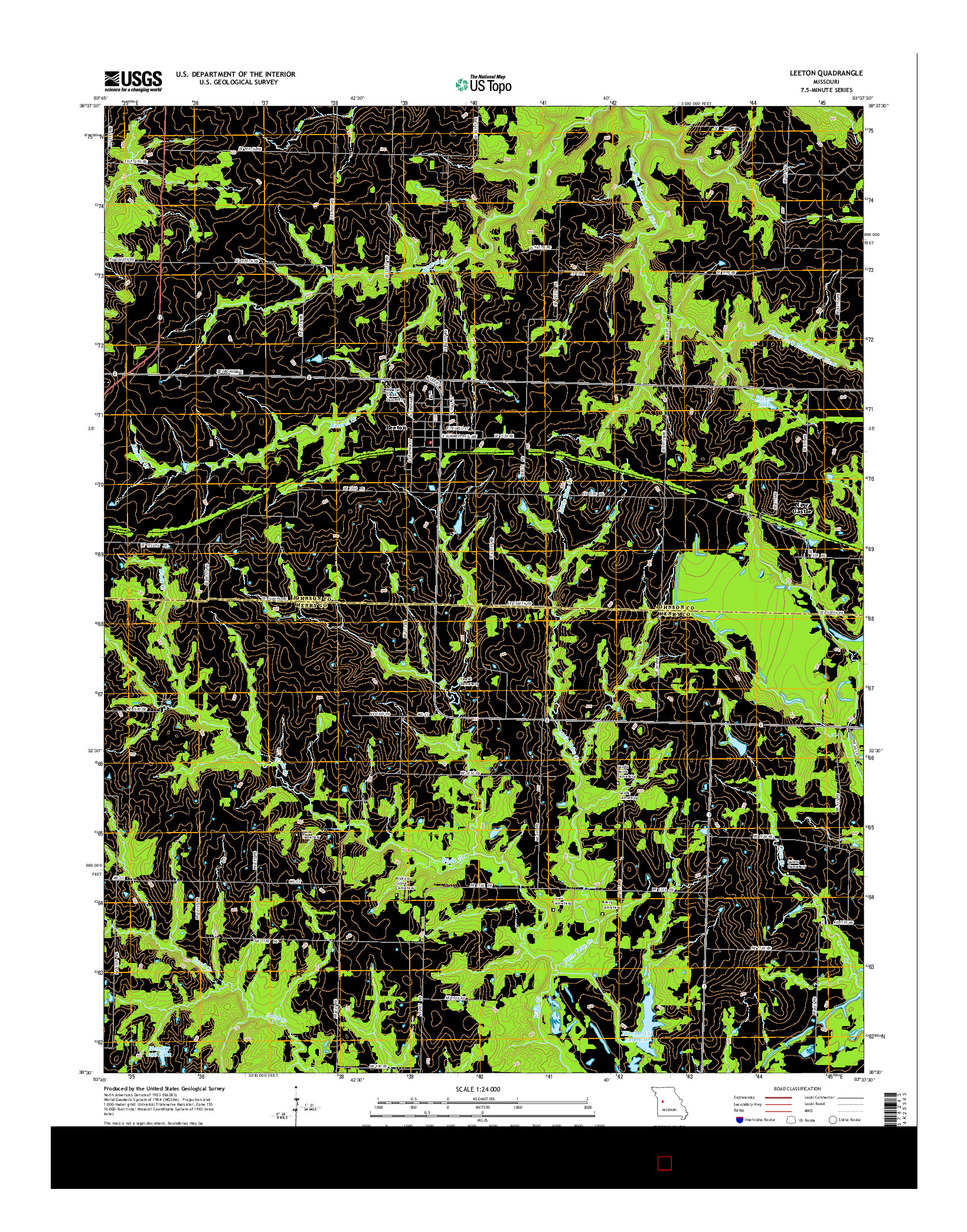 USGS US TOPO 7.5-MINUTE MAP FOR LEETON, MO 2014