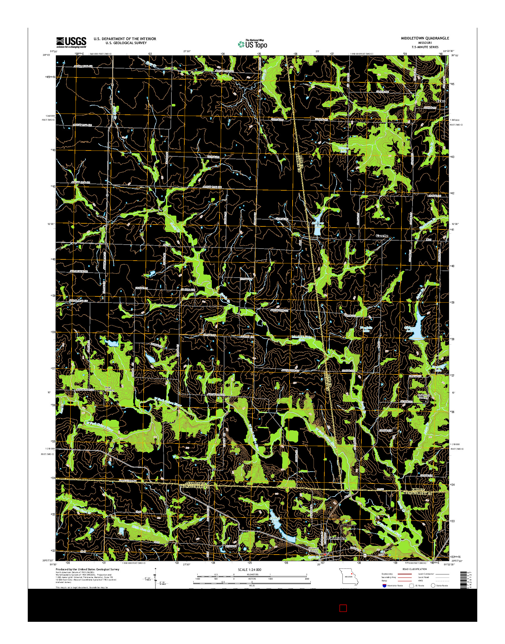 USGS US TOPO 7.5-MINUTE MAP FOR MIDDLETOWN, MO 2014