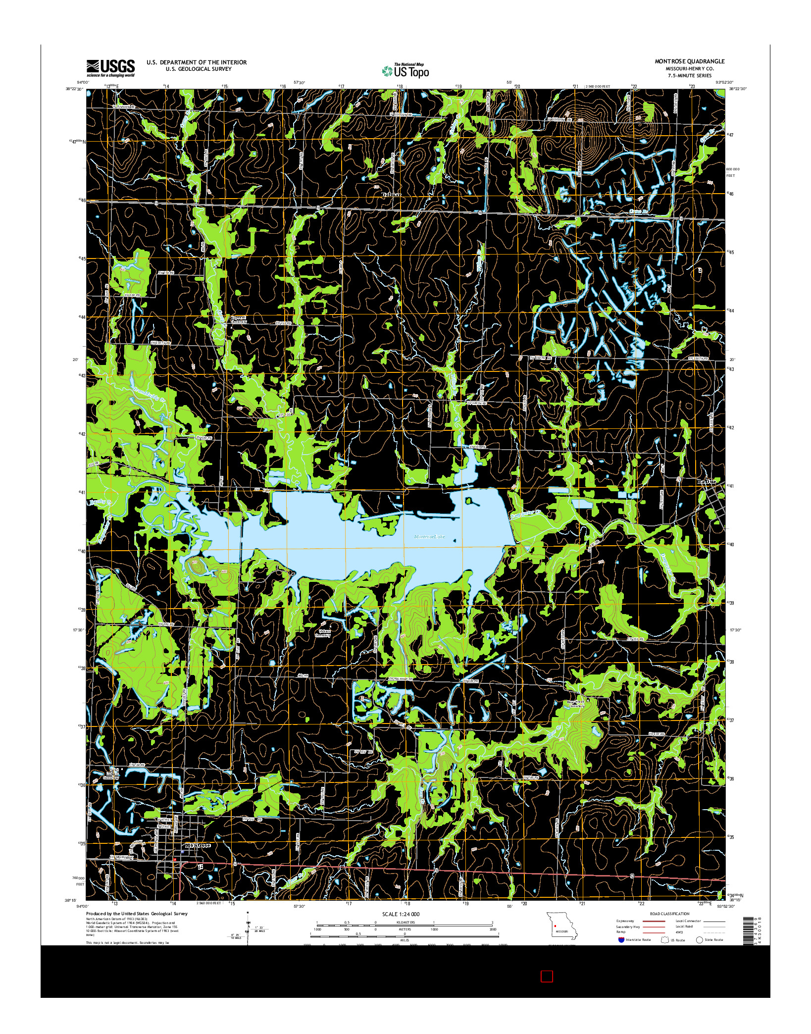 USGS US TOPO 7.5-MINUTE MAP FOR MONTROSE, MO 2014