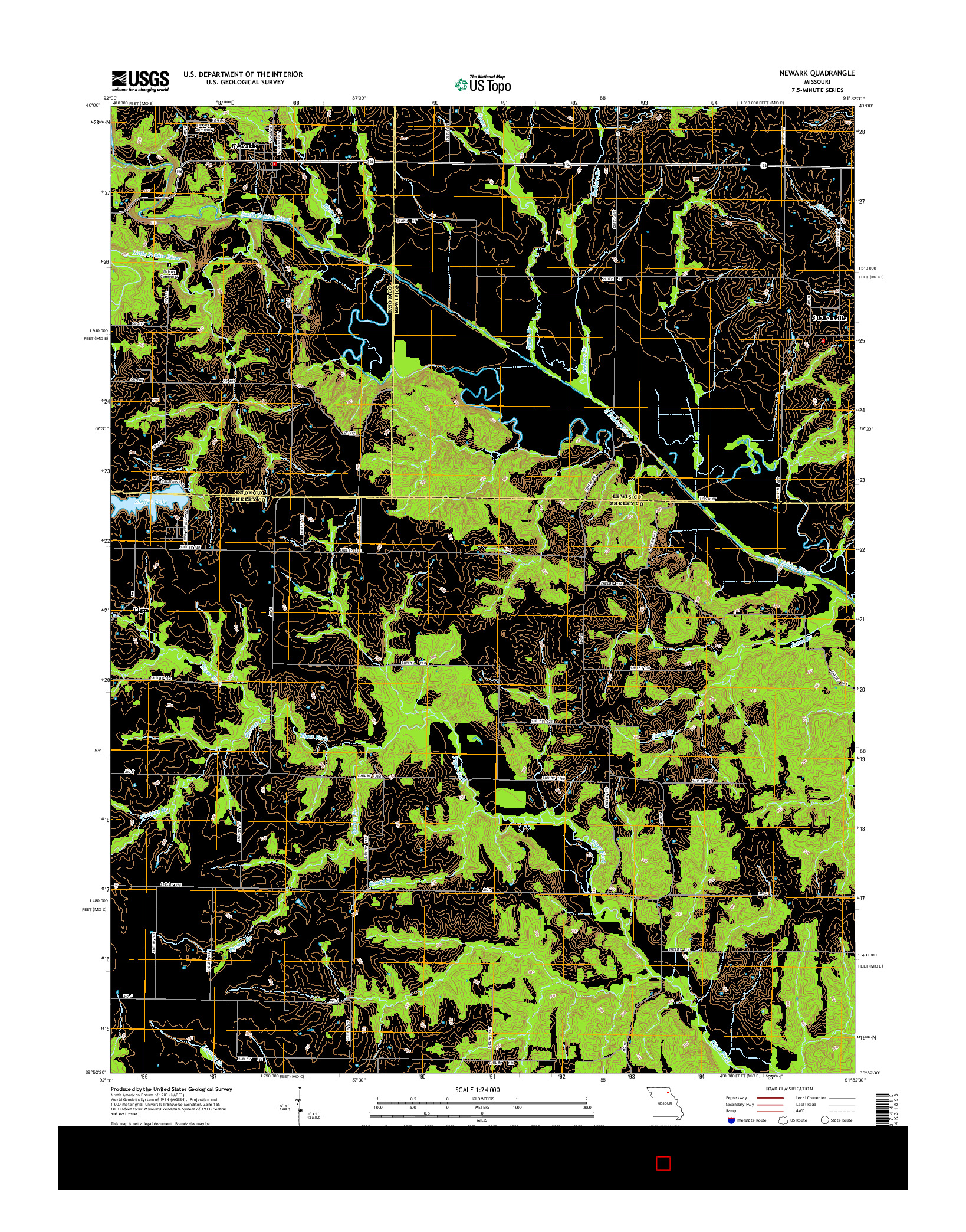 USGS US TOPO 7.5-MINUTE MAP FOR NEWARK, MO 2014