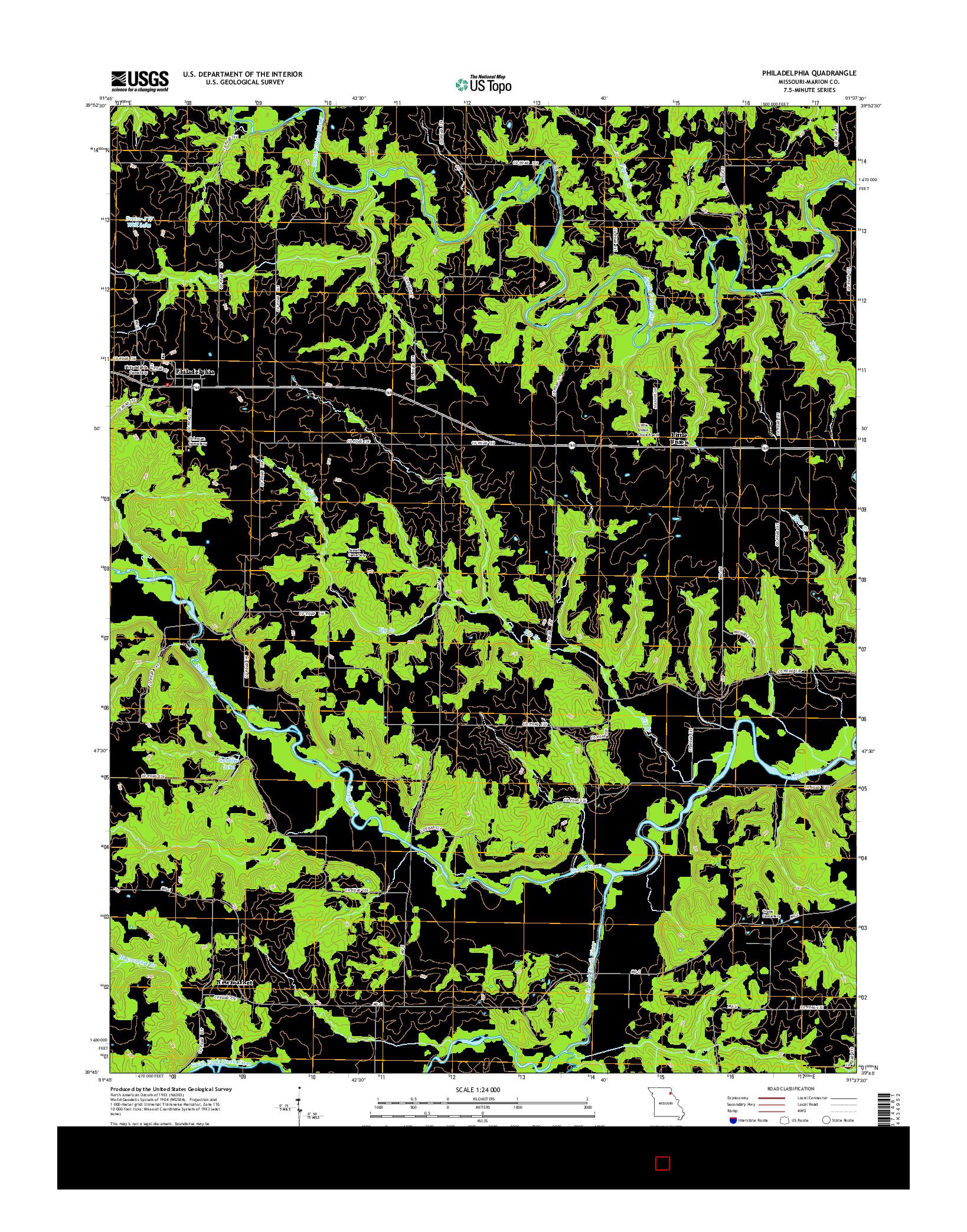 USGS US TOPO 7.5-MINUTE MAP FOR PHILADELPHIA, MO 2014