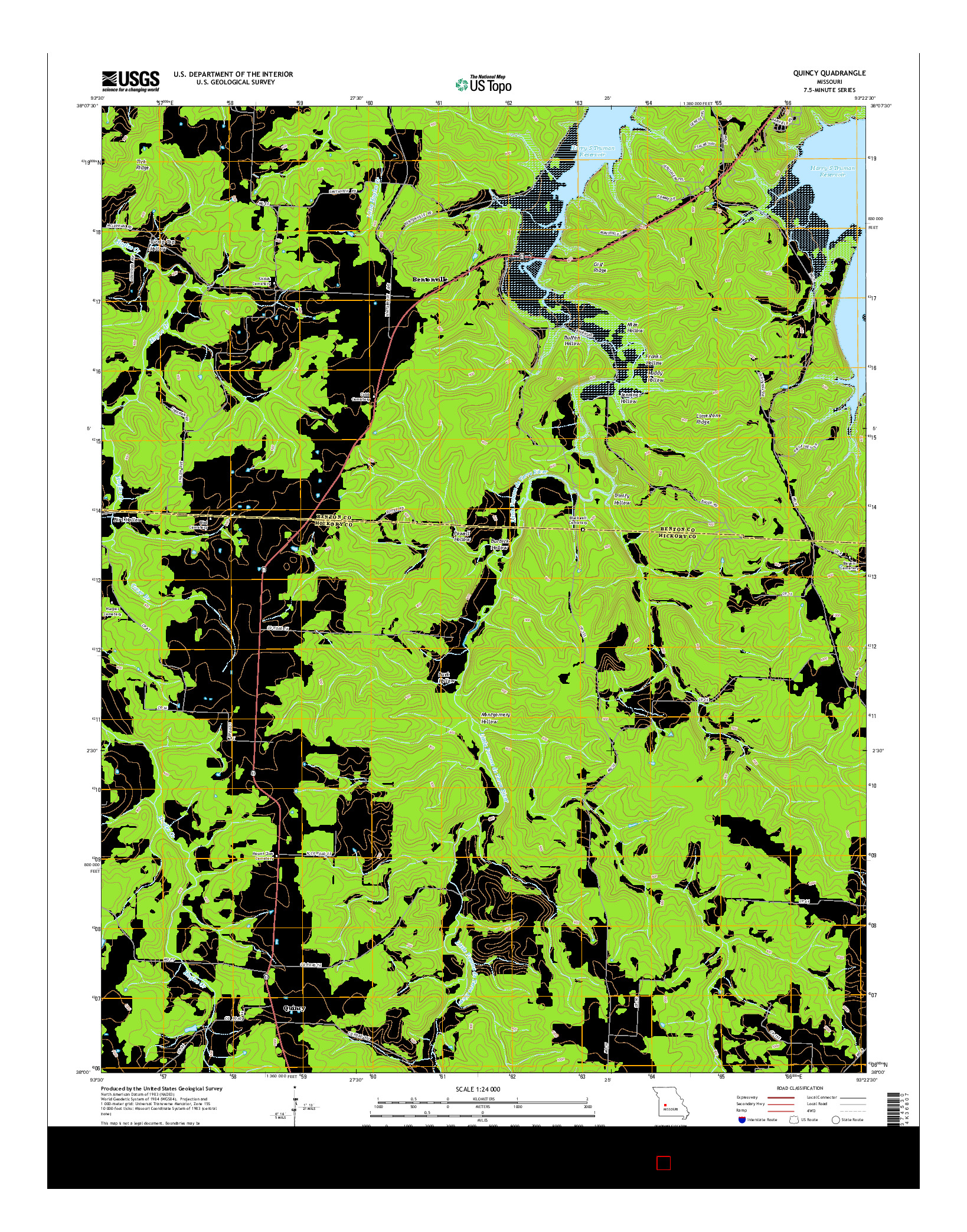 USGS US TOPO 7.5-MINUTE MAP FOR QUINCY, MO 2014