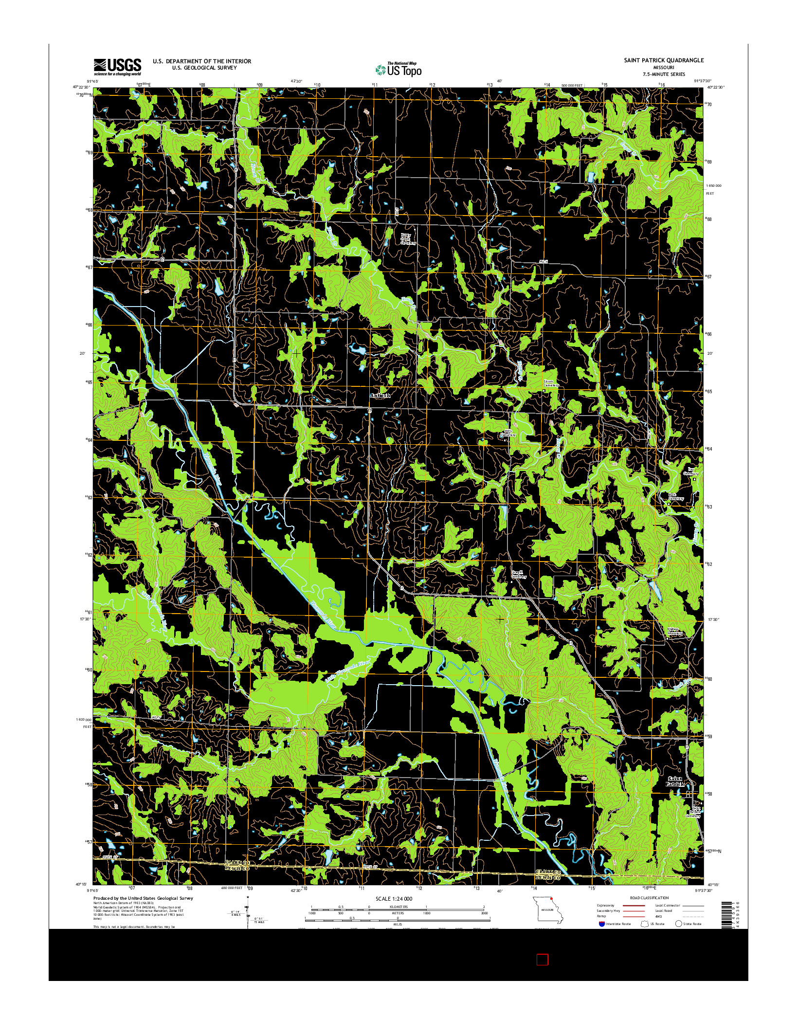 USGS US TOPO 7.5-MINUTE MAP FOR SAINT PATRICK, MO 2014