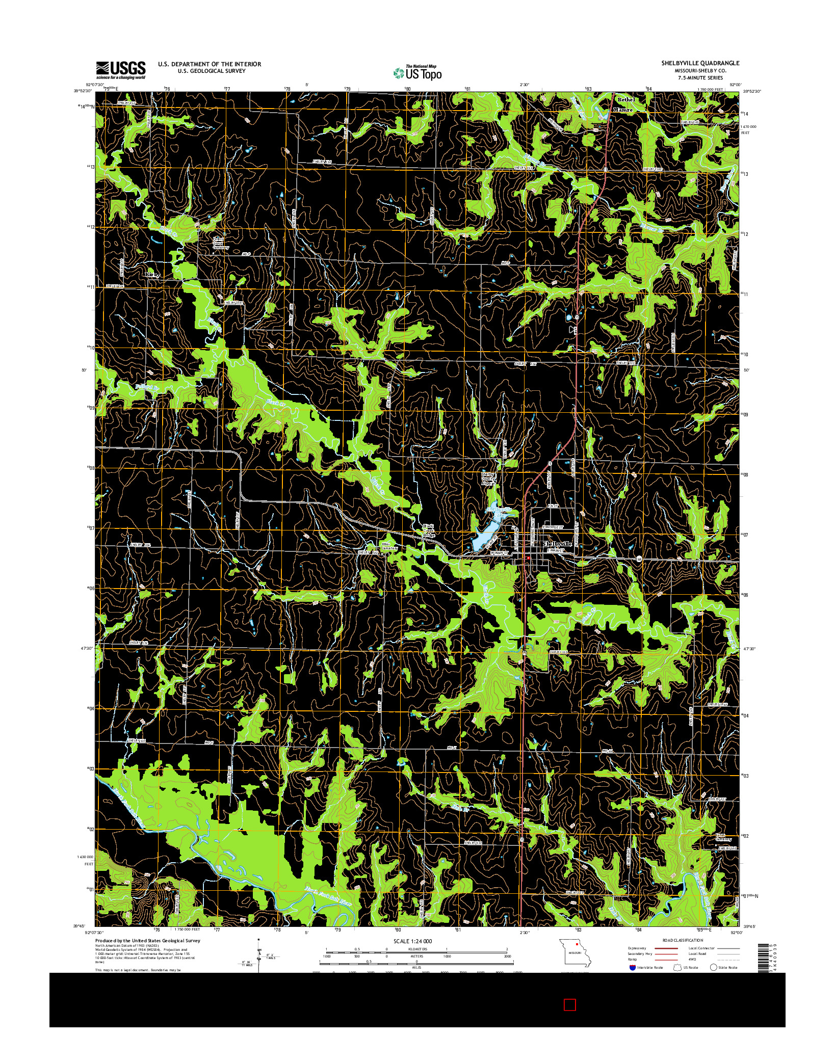 USGS US TOPO 7.5-MINUTE MAP FOR SHELBYVILLE, MO 2014
