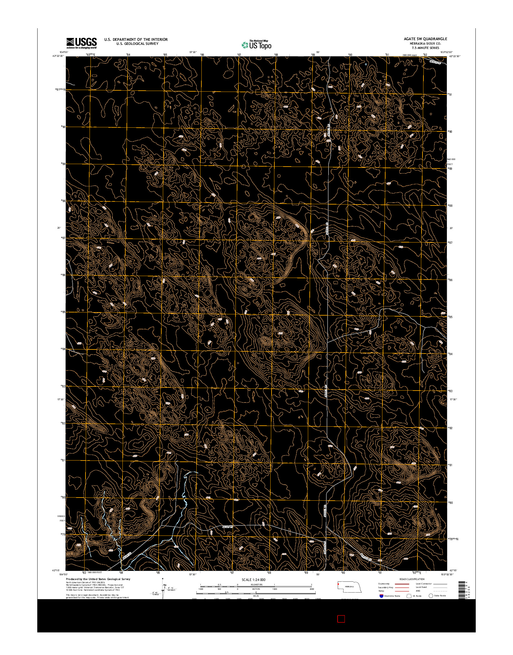 USGS US TOPO 7.5-MINUTE MAP FOR AGATE SW, NE 2014
