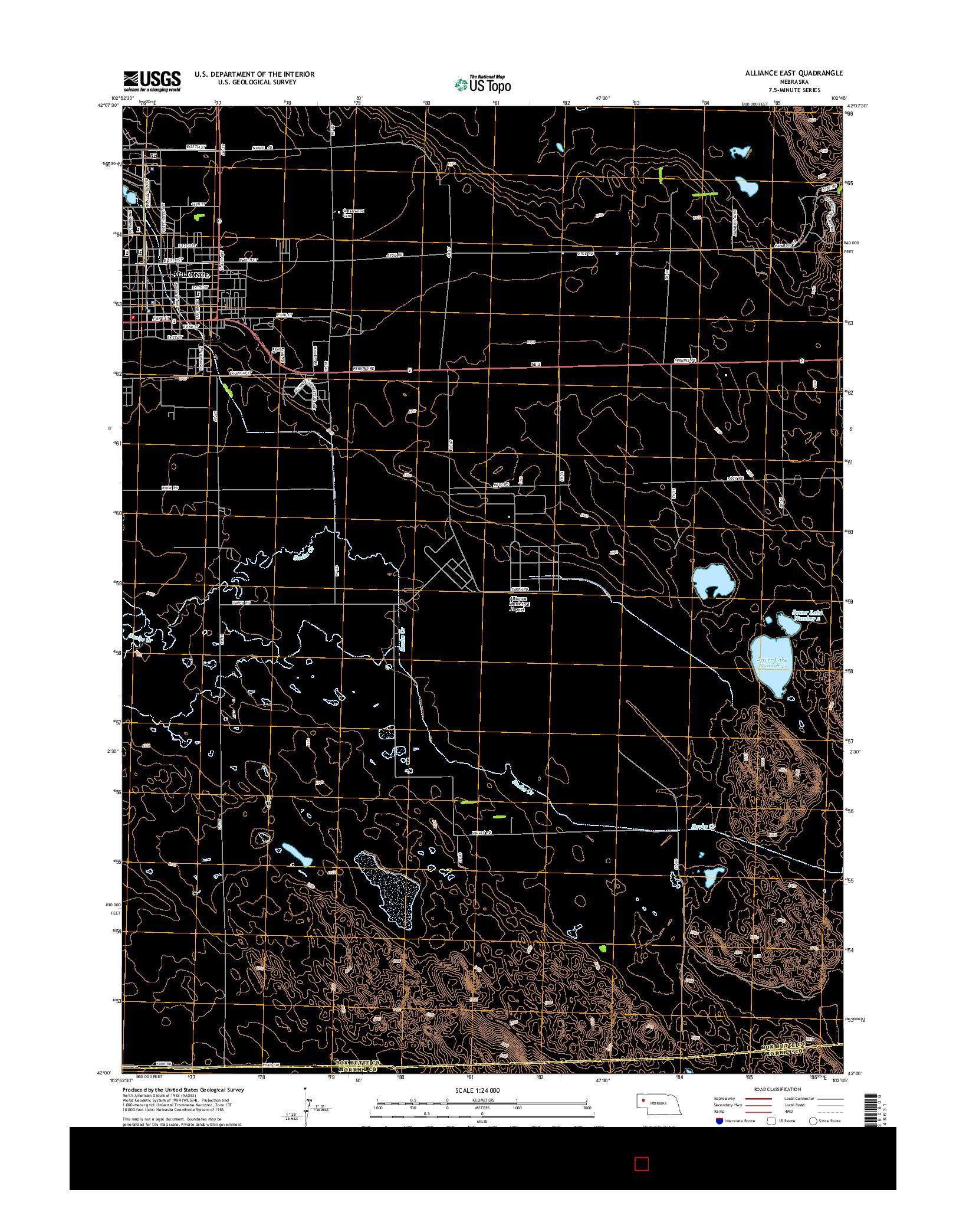 USGS US TOPO 7.5-MINUTE MAP FOR ALLIANCE EAST, NE 2014
