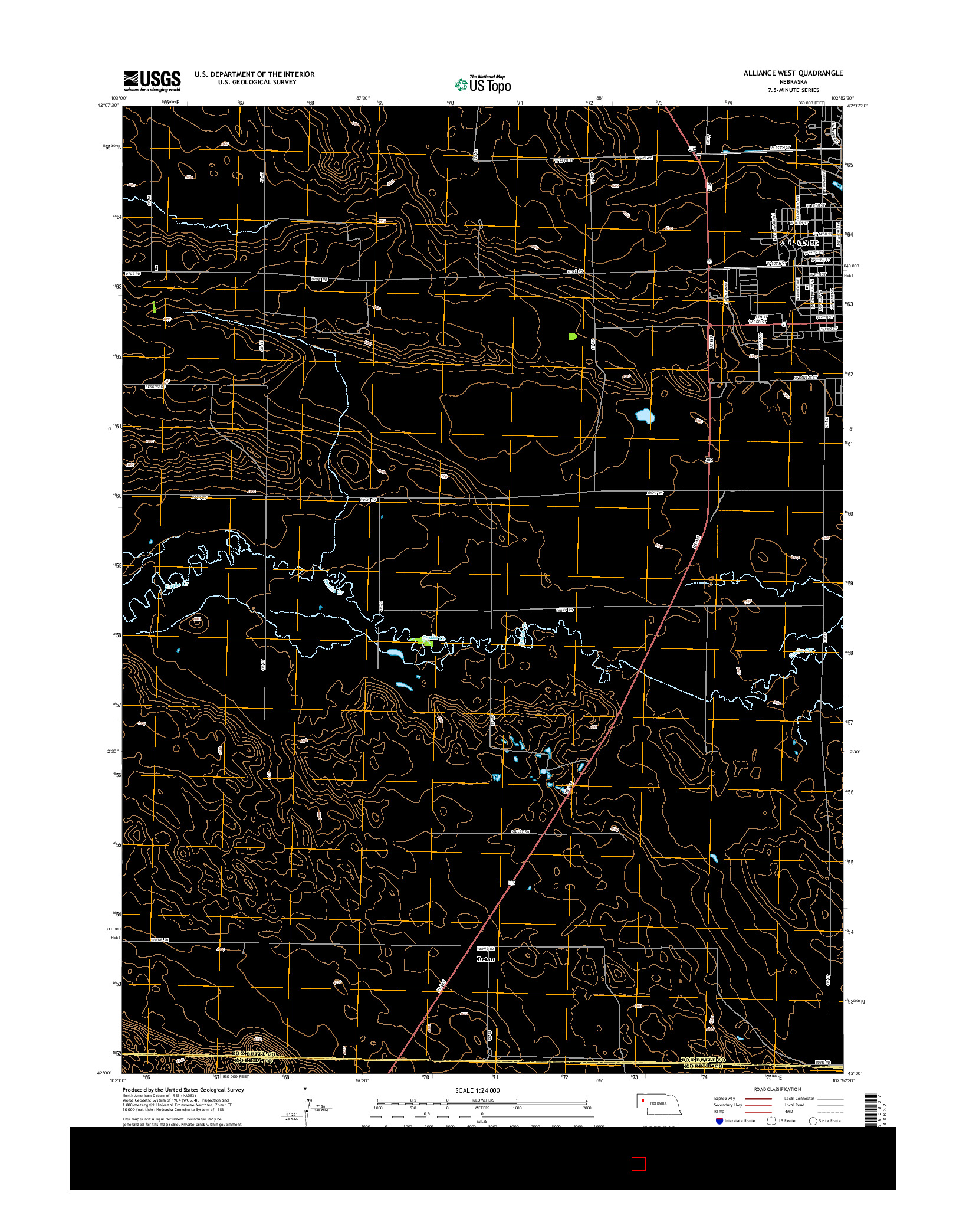 USGS US TOPO 7.5-MINUTE MAP FOR ALLIANCE WEST, NE 2014