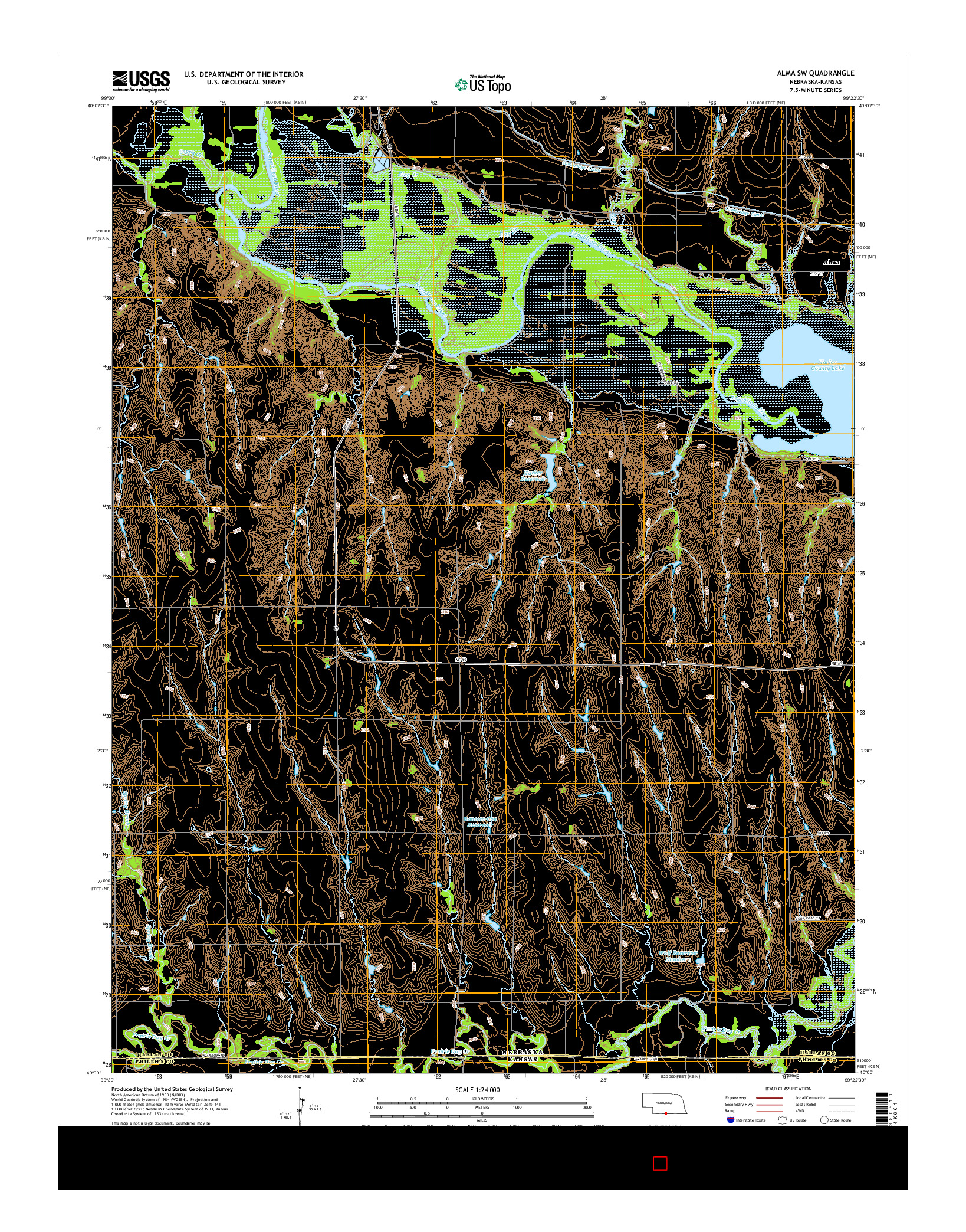 USGS US TOPO 7.5-MINUTE MAP FOR ALMA SW, NE-KS 2014