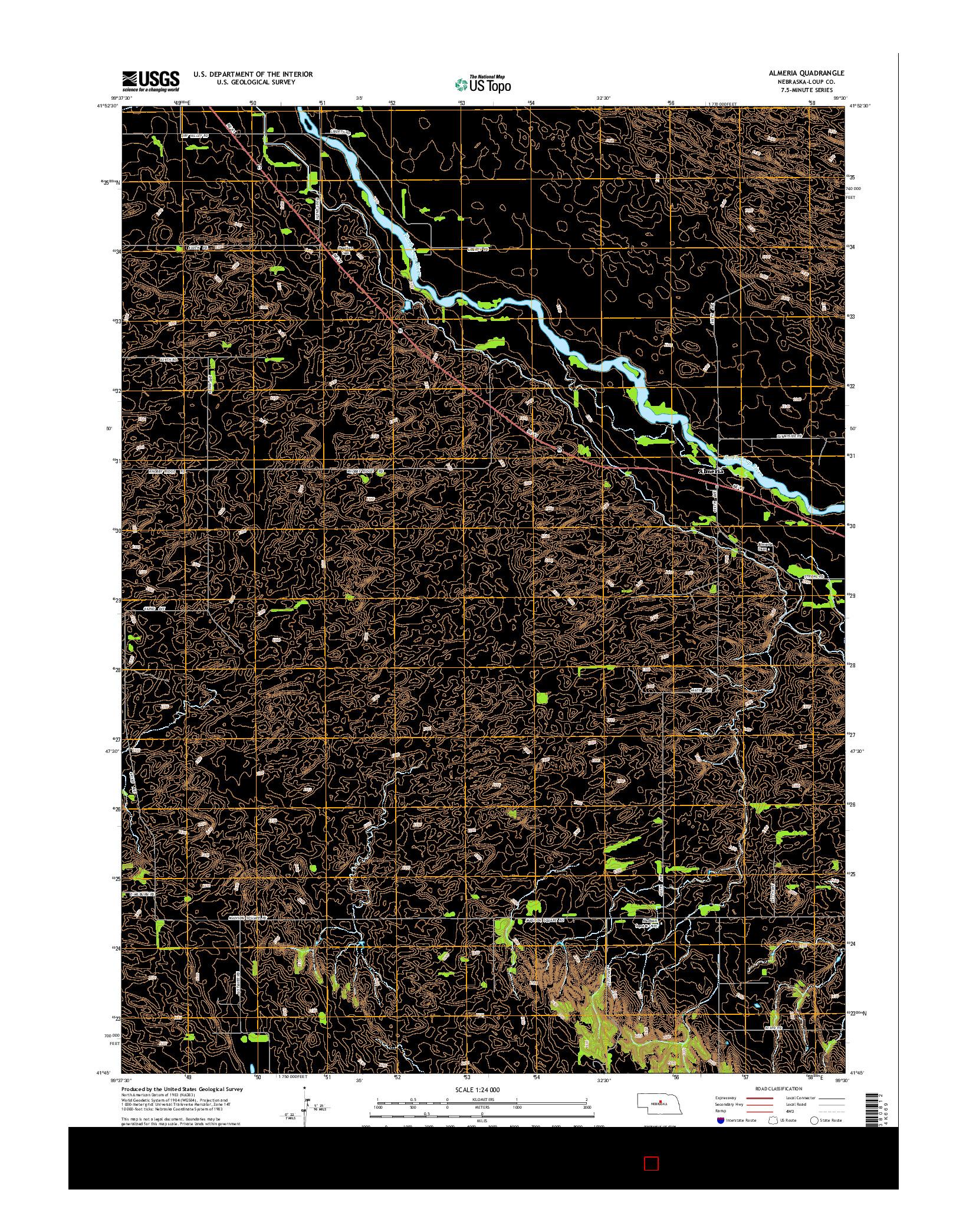 USGS US TOPO 7.5-MINUTE MAP FOR ALMERIA, NE 2014
