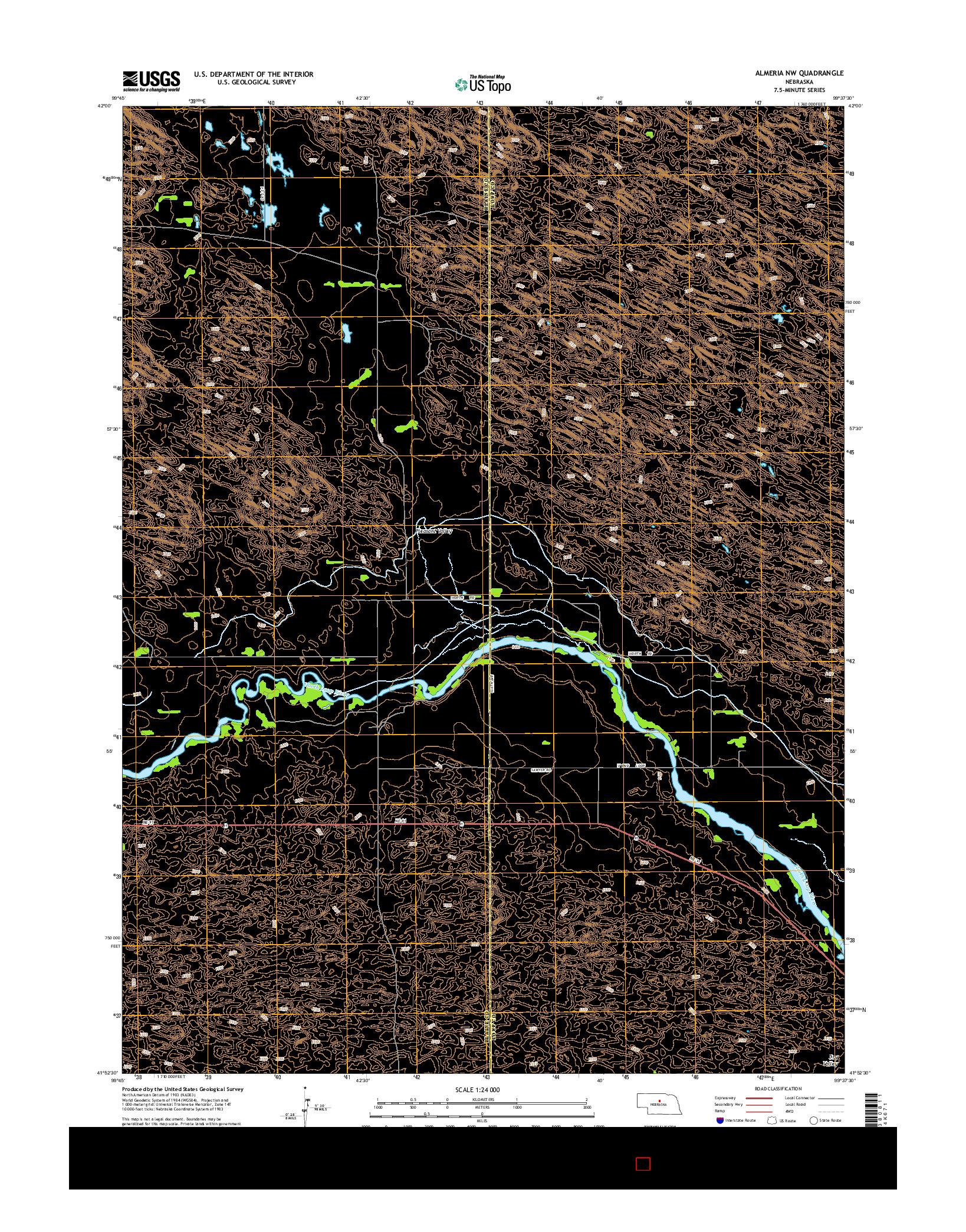 USGS US TOPO 7.5-MINUTE MAP FOR ALMERIA NW, NE 2014