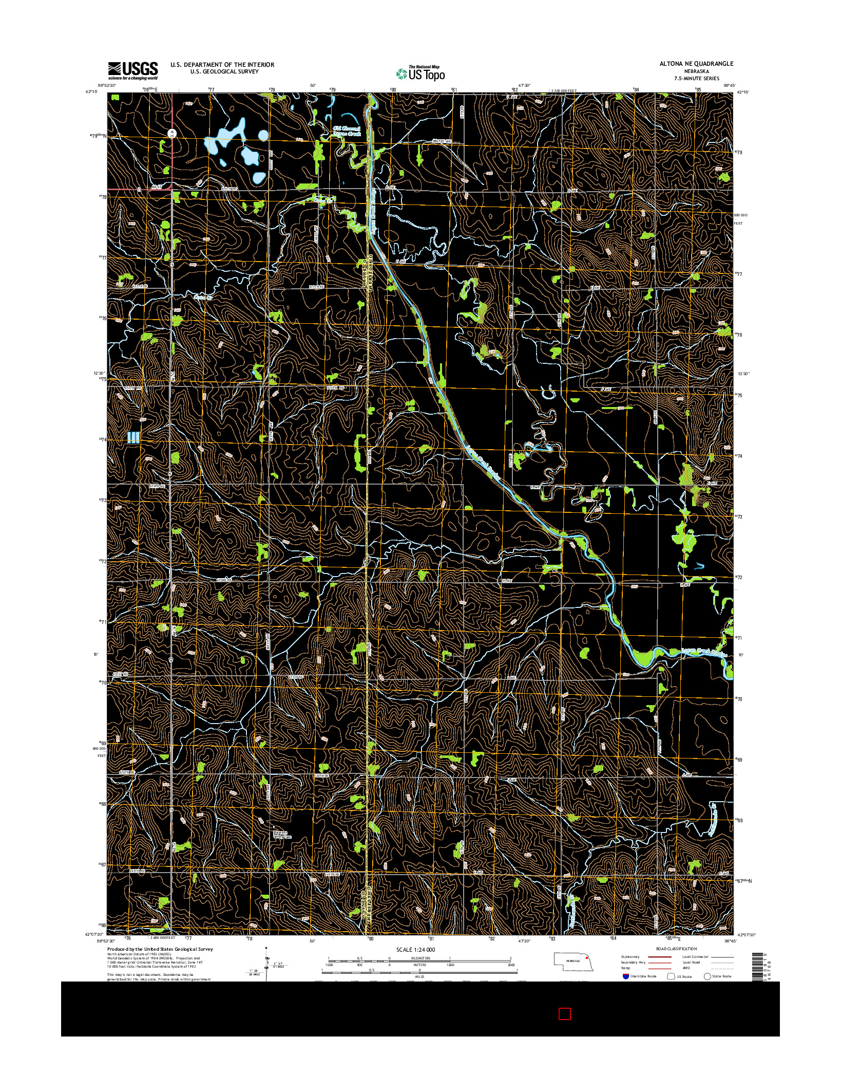 USGS US TOPO 7.5-MINUTE MAP FOR ALTONA NE, NE 2014