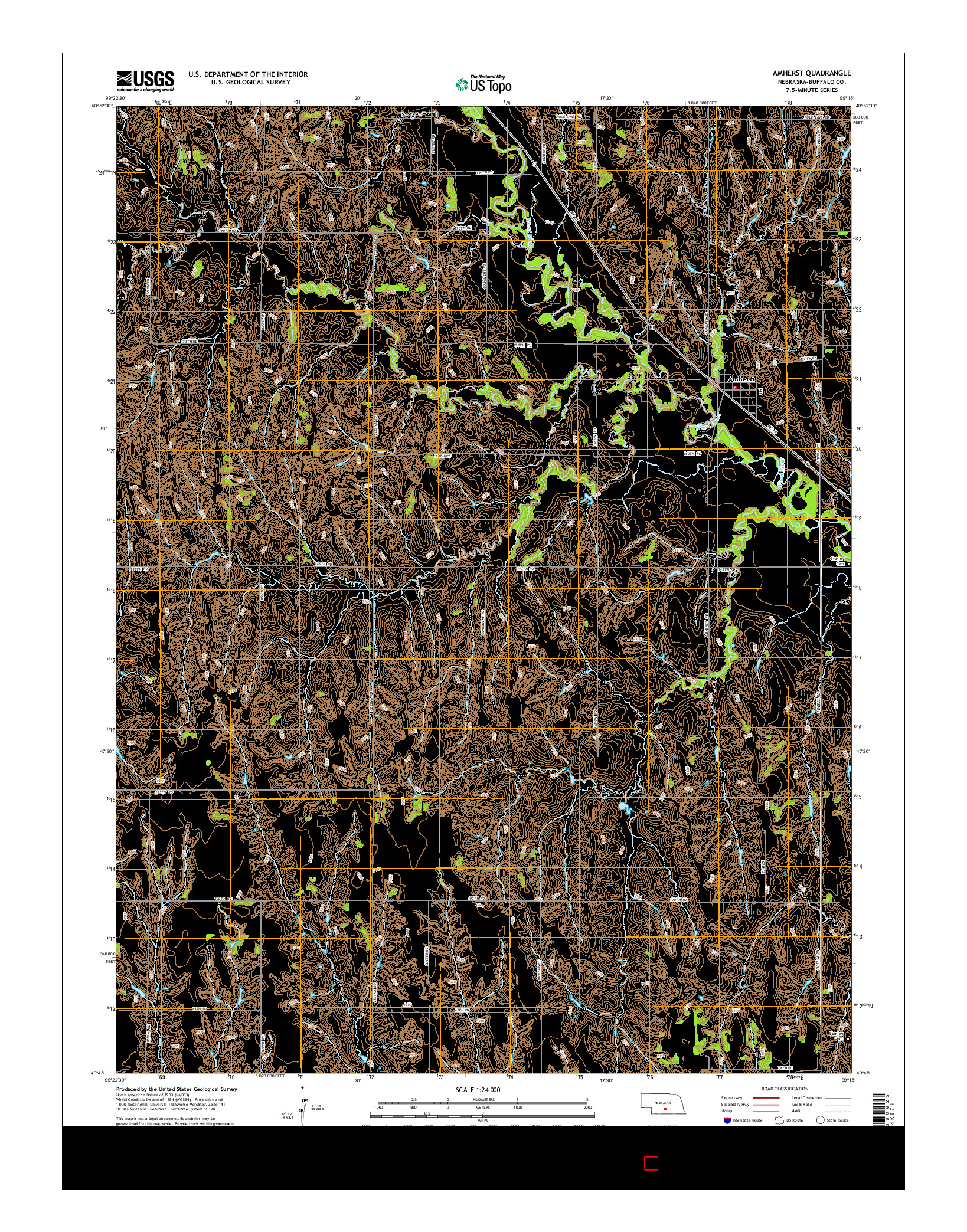 USGS US TOPO 7.5-MINUTE MAP FOR AMHERST, NE 2014