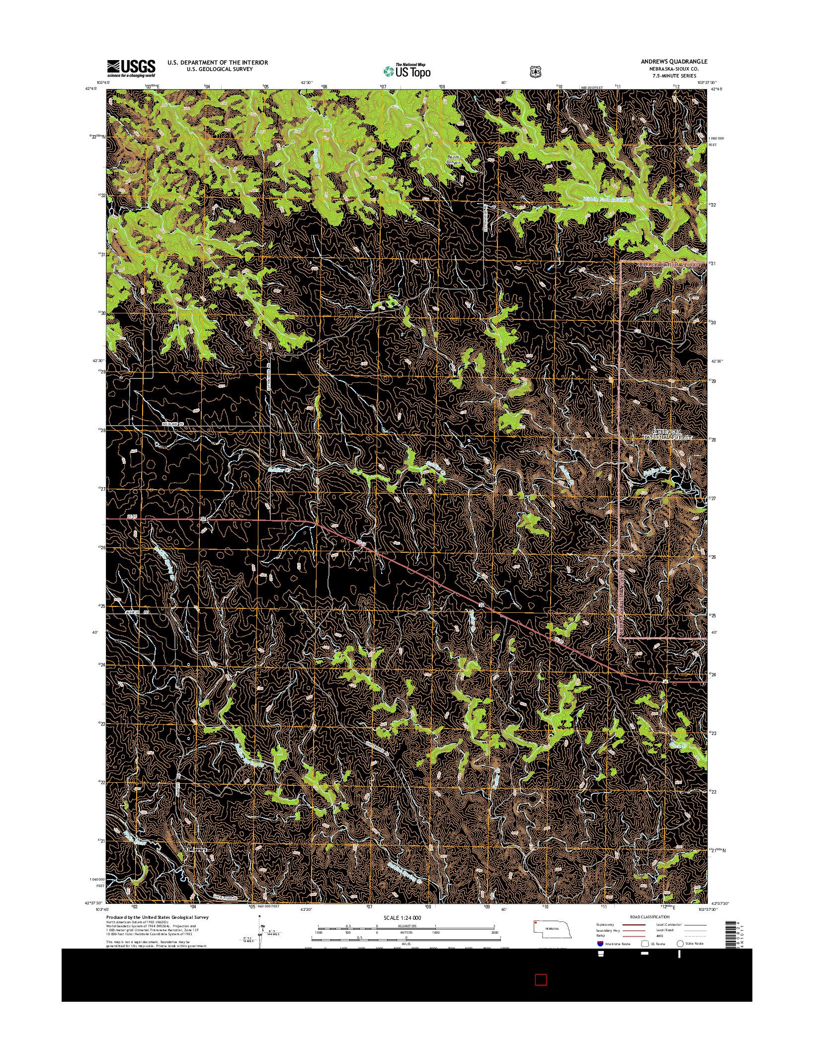 USGS US TOPO 7.5-MINUTE MAP FOR ANDREWS, NE 2014