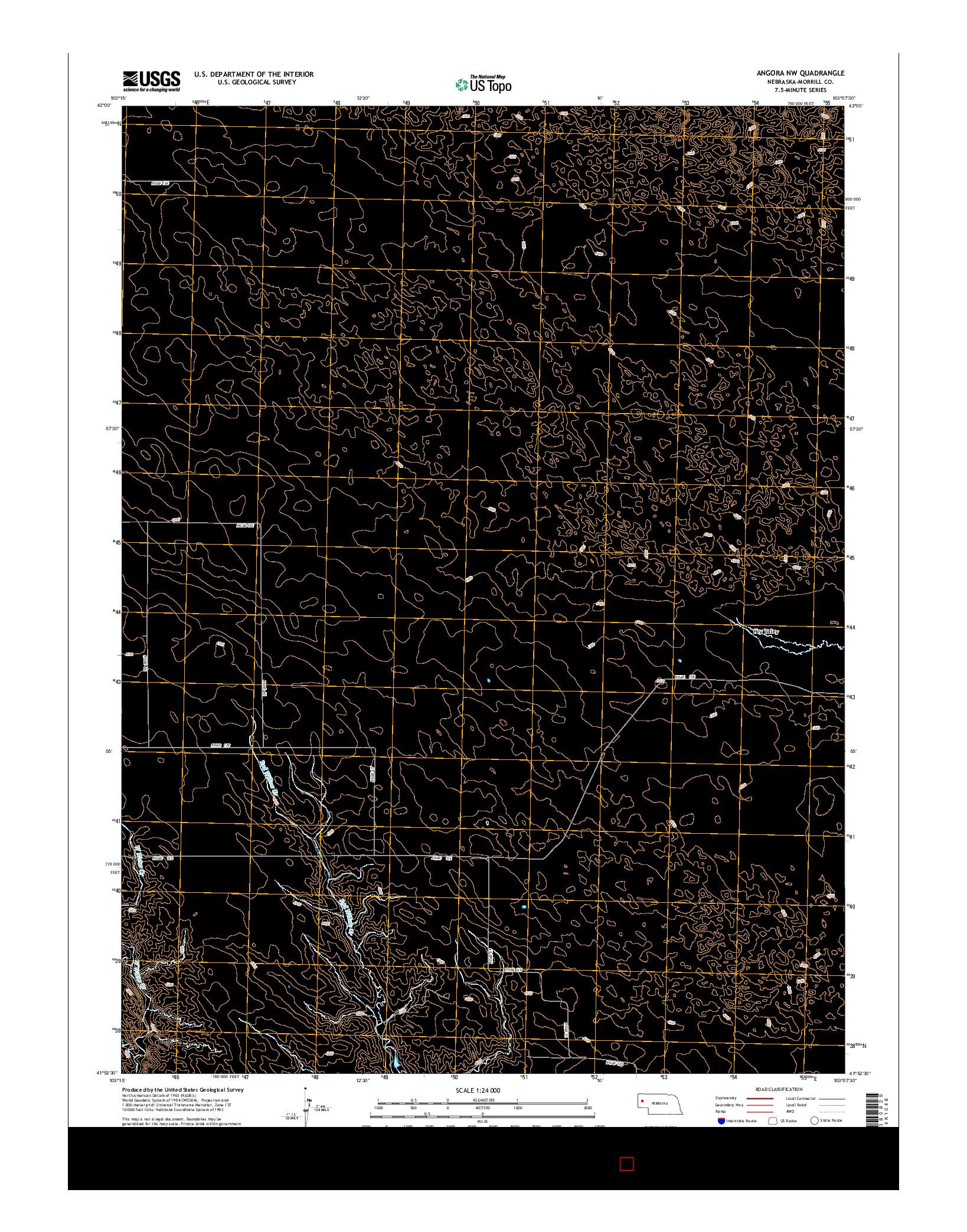 USGS US TOPO 7.5-MINUTE MAP FOR ANGORA NW, NE 2014