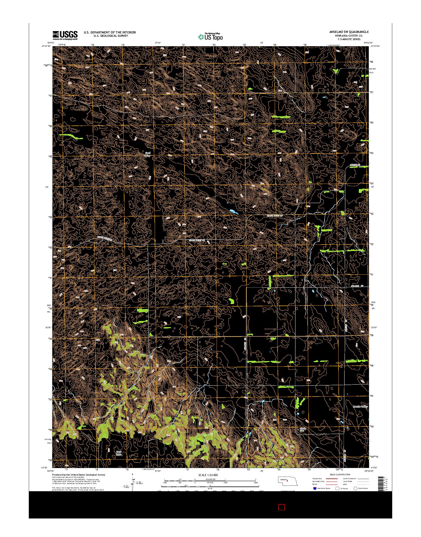 USGS US TOPO 7.5-MINUTE MAP FOR ANSELMO SW, NE 2014