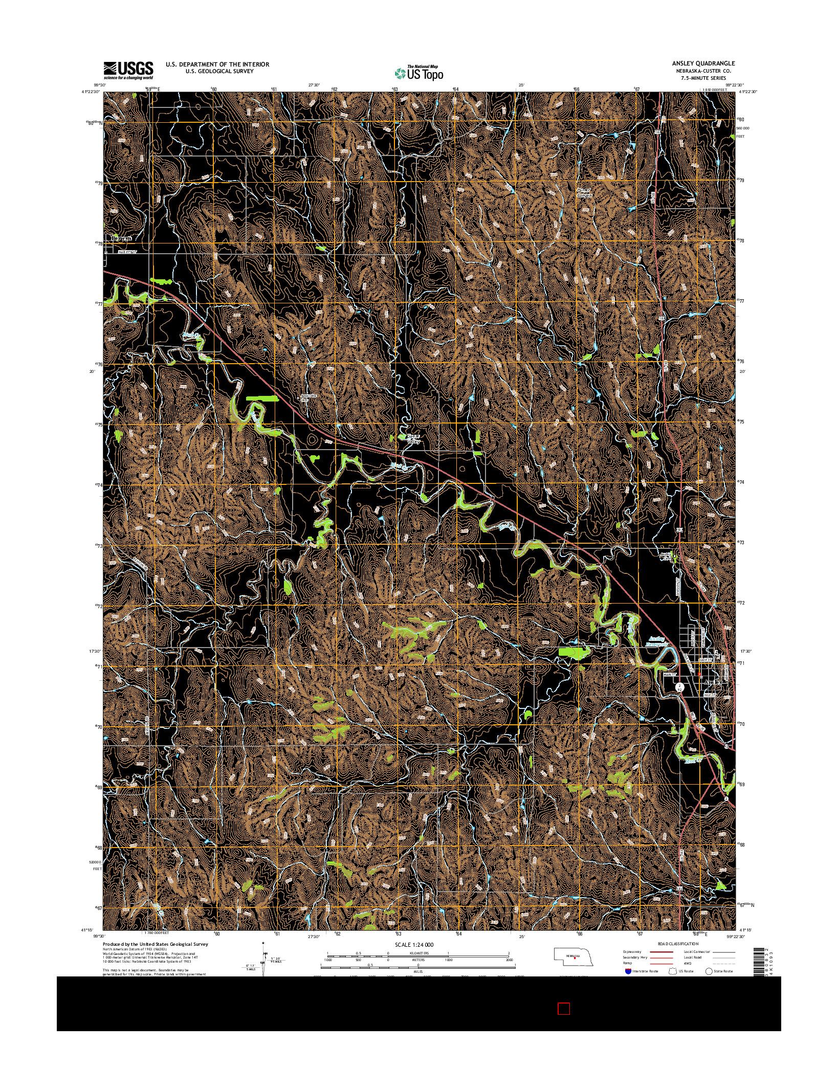 USGS US TOPO 7.5-MINUTE MAP FOR ANSLEY, NE 2014