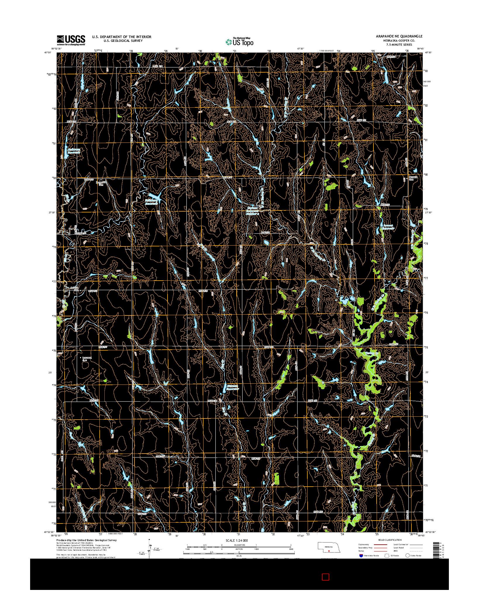 USGS US TOPO 7.5-MINUTE MAP FOR ARAPAHOE NE, NE 2014