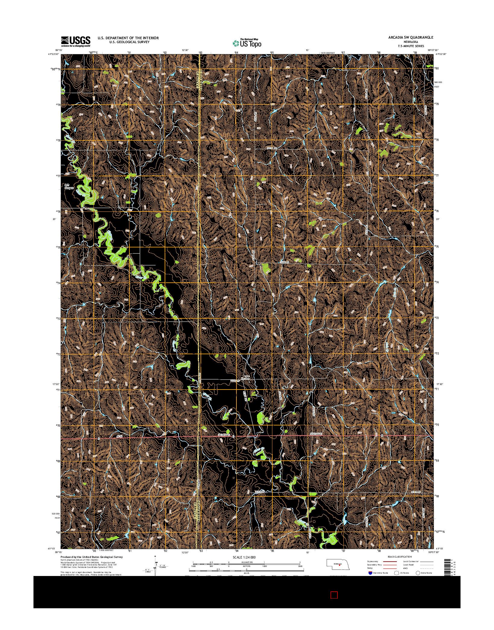 USGS US TOPO 7.5-MINUTE MAP FOR ARCADIA SW, NE 2014