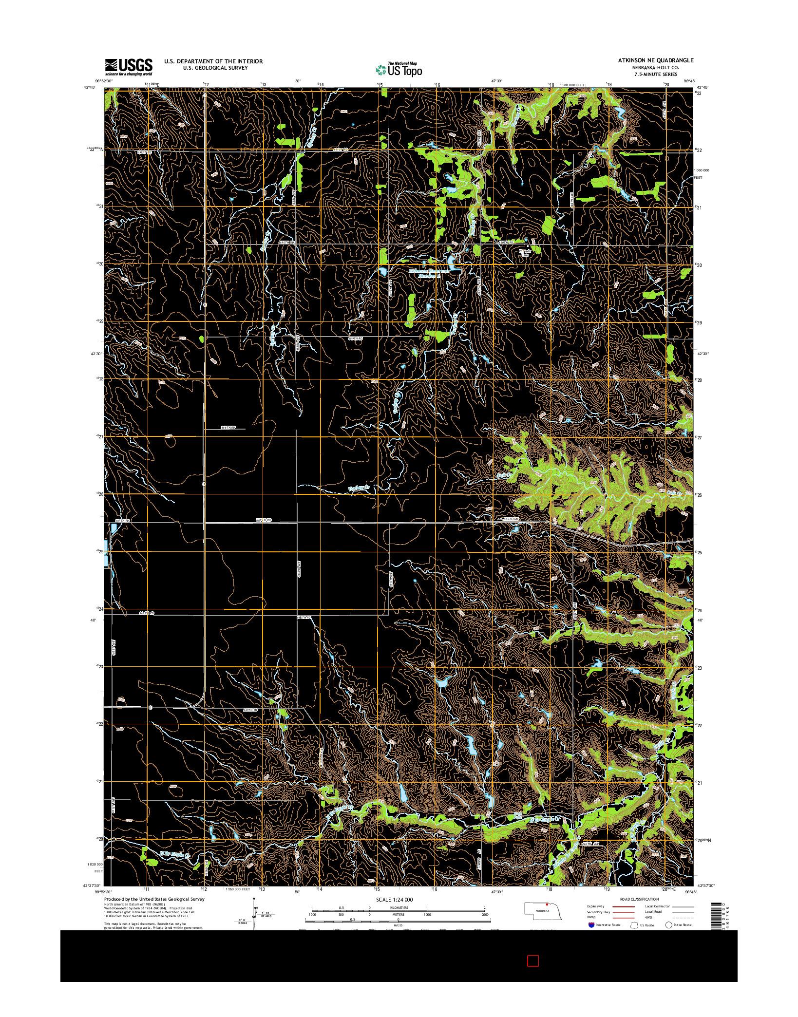 USGS US TOPO 7.5-MINUTE MAP FOR ATKINSON NE, NE 2014