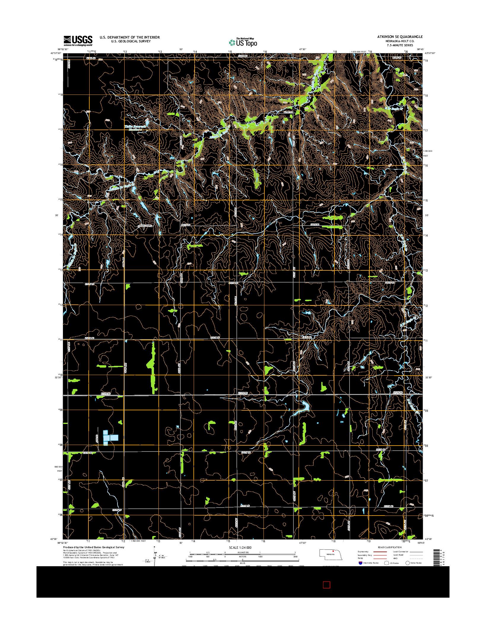 USGS US TOPO 7.5-MINUTE MAP FOR ATKINSON SE, NE 2014