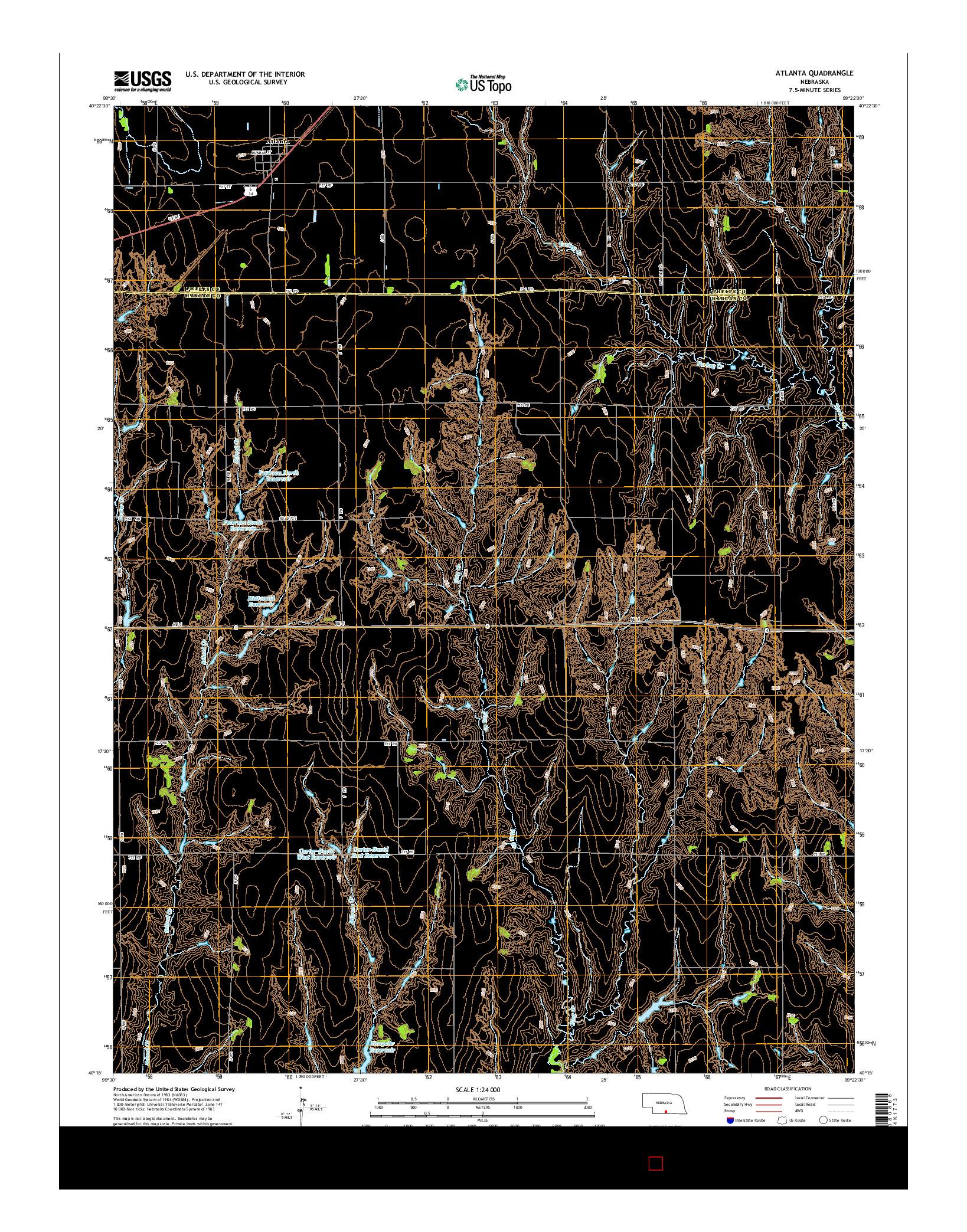USGS US TOPO 7.5-MINUTE MAP FOR ATLANTA, NE 2014