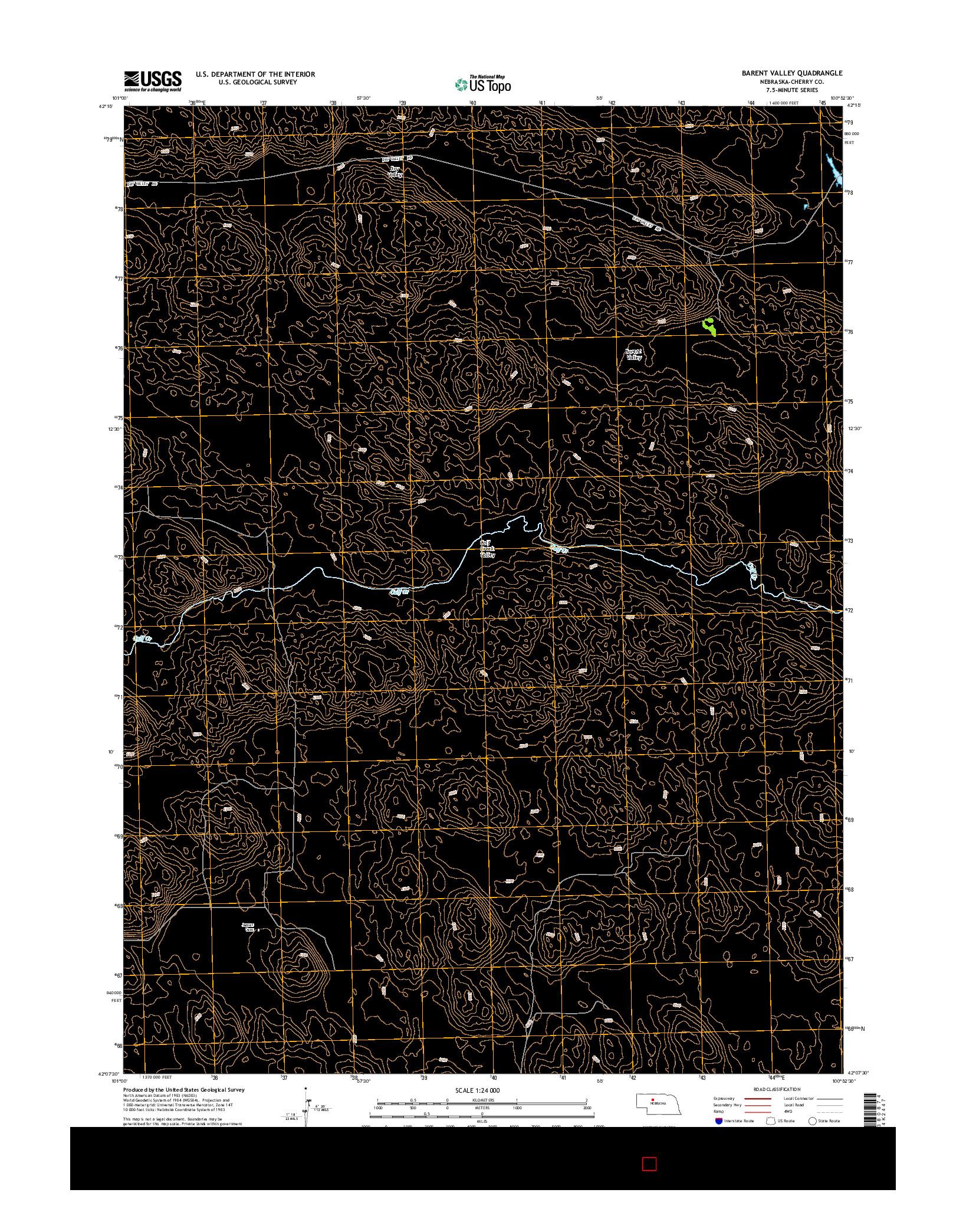 USGS US TOPO 7.5-MINUTE MAP FOR BARENT VALLEY, NE 2014