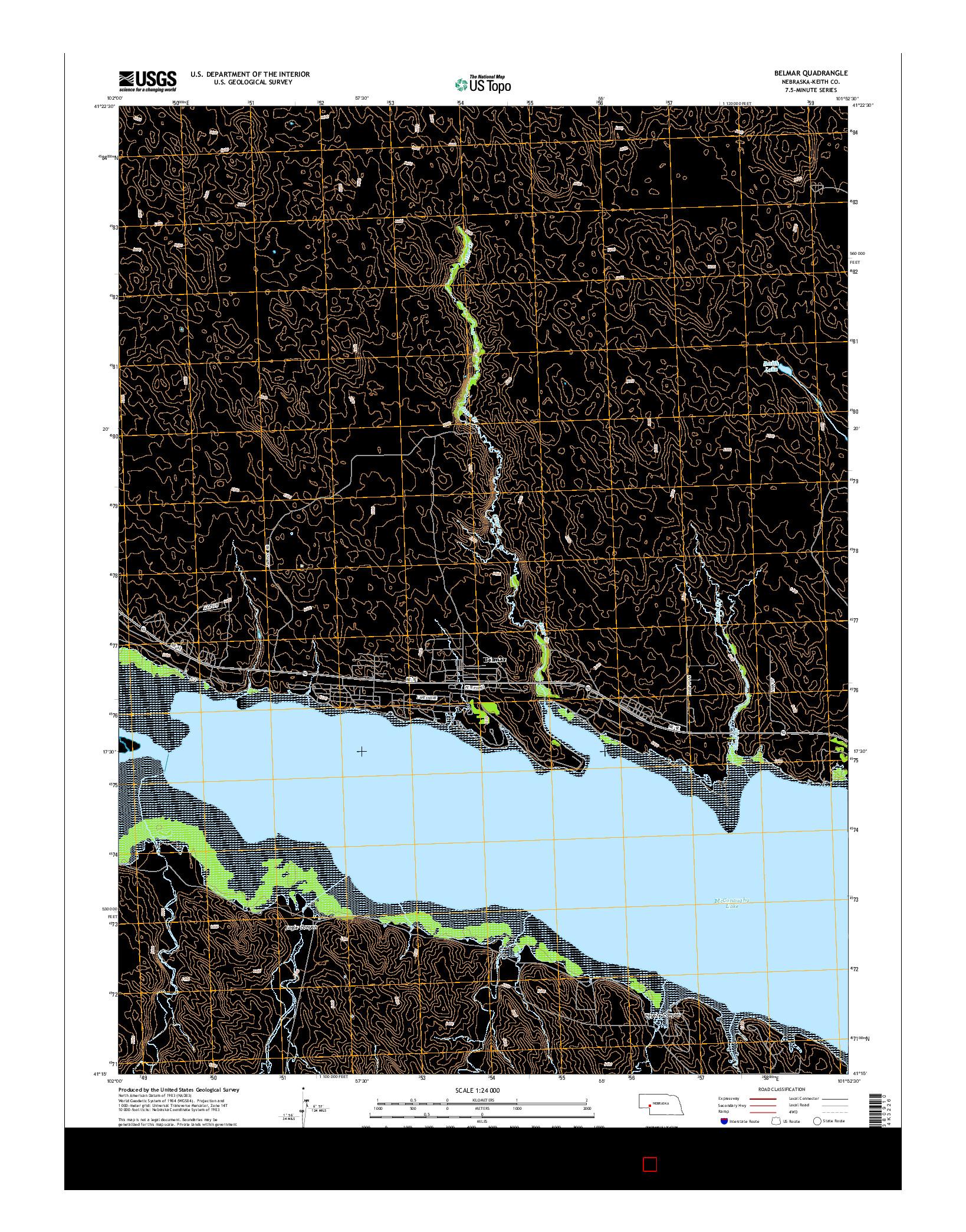 USGS US TOPO 7.5-MINUTE MAP FOR BELMAR, NE 2014