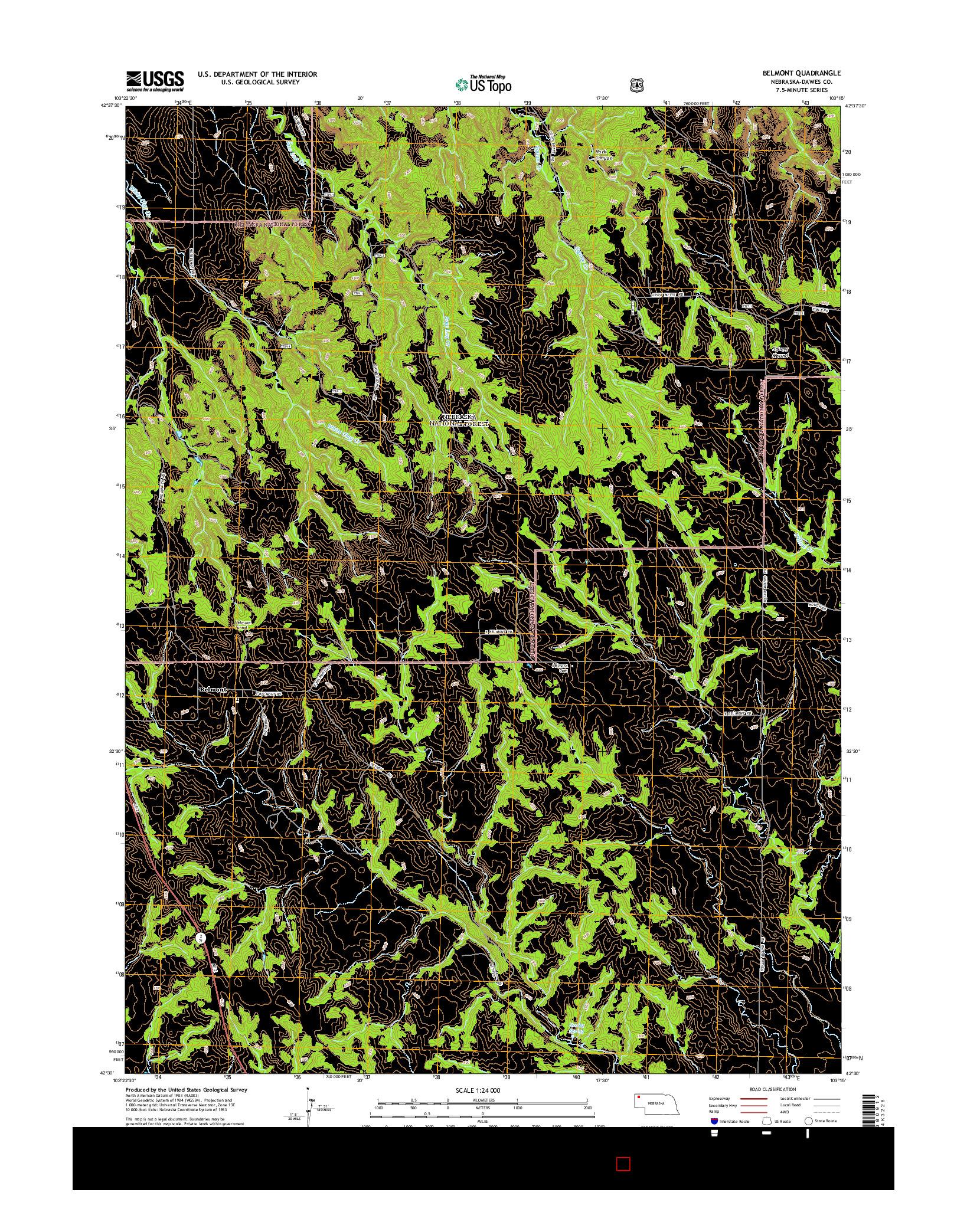 USGS US TOPO 7.5-MINUTE MAP FOR BELMONT, NE 2014