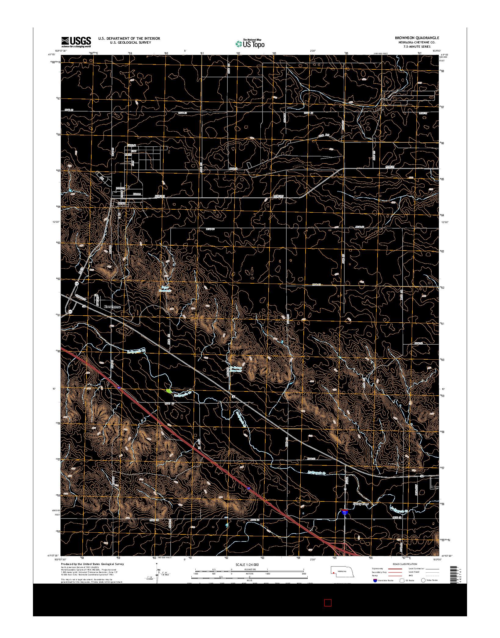 USGS US TOPO 7.5-MINUTE MAP FOR BROWNSON, NE 2014