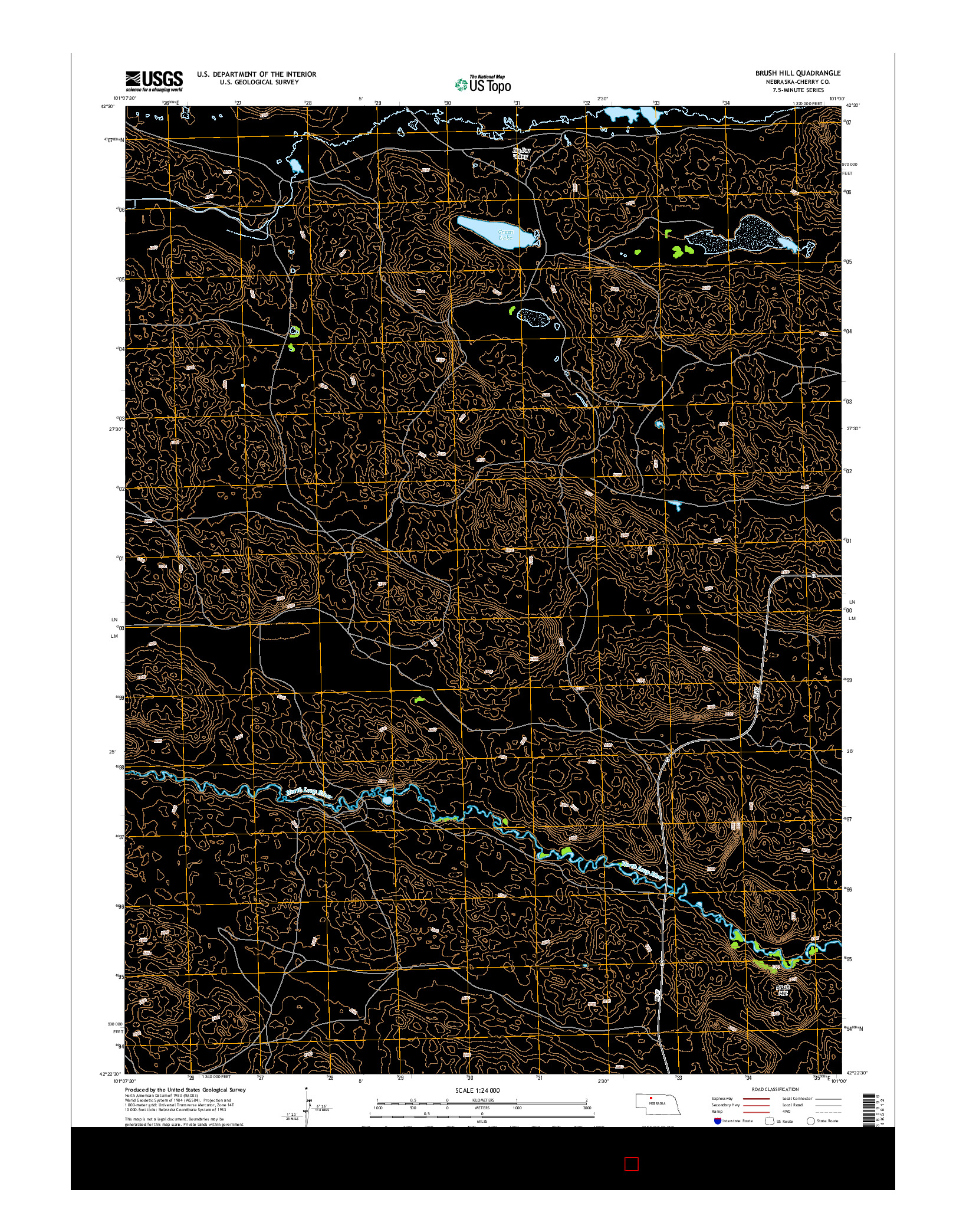 USGS US TOPO 7.5-MINUTE MAP FOR BRUSH HILL, NE 2014