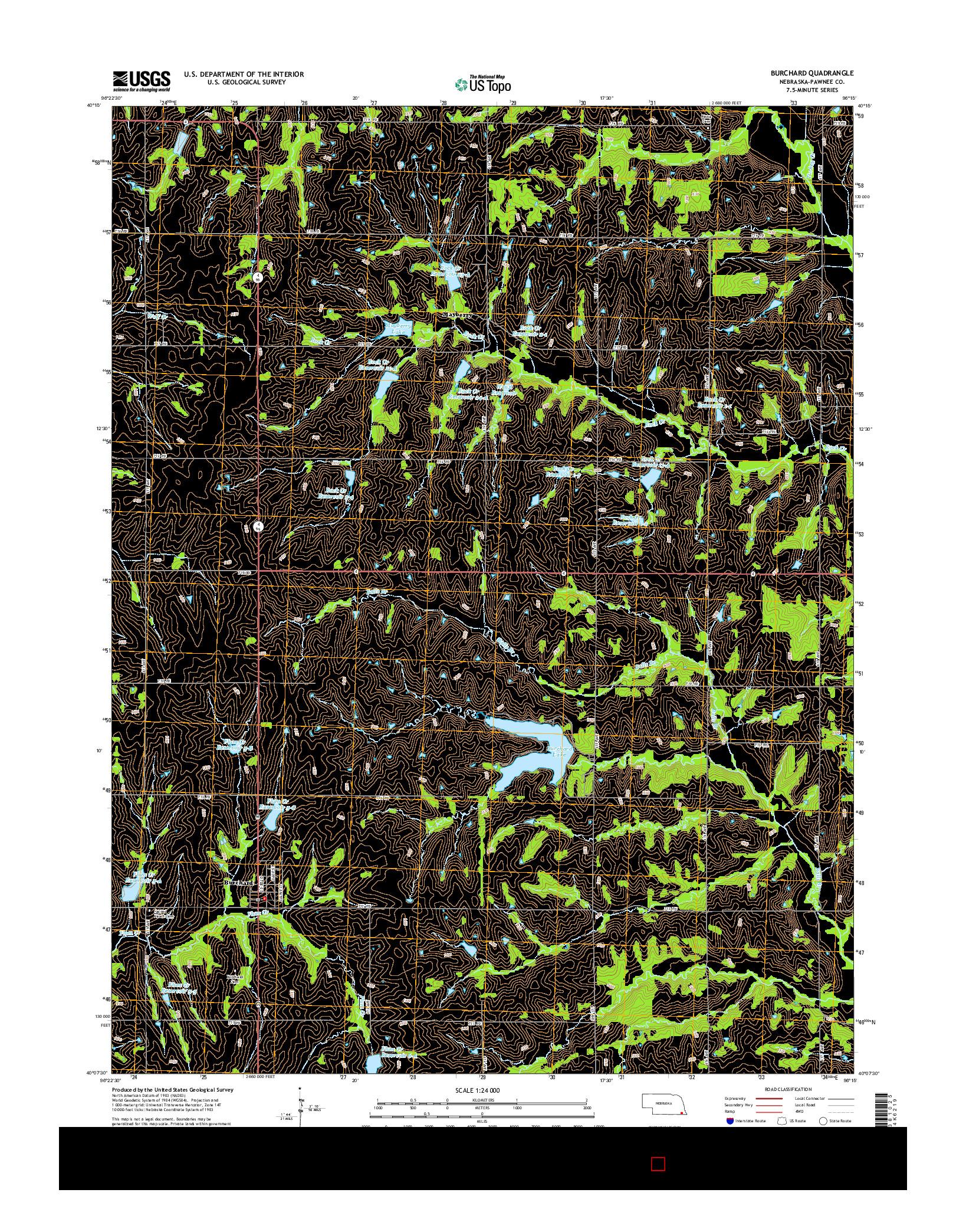 USGS US TOPO 7.5-MINUTE MAP FOR BURCHARD, NE 2014