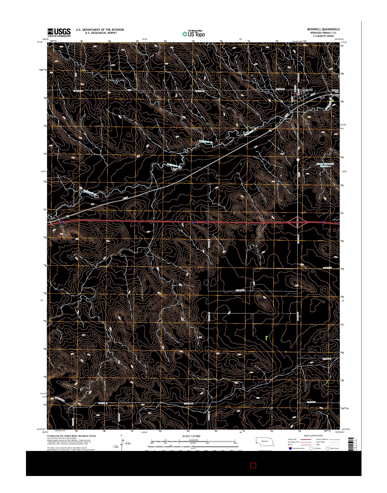 USGS US TOPO 7.5-MINUTE MAP FOR BUSHNELL, NE 2014