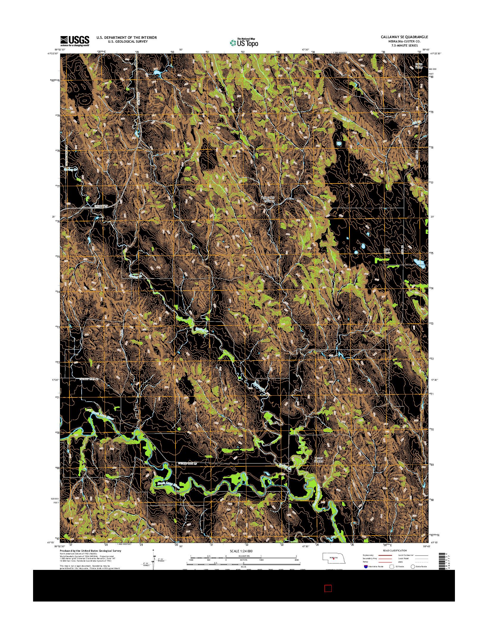 USGS US TOPO 7.5-MINUTE MAP FOR CALLAWAY SE, NE 2014