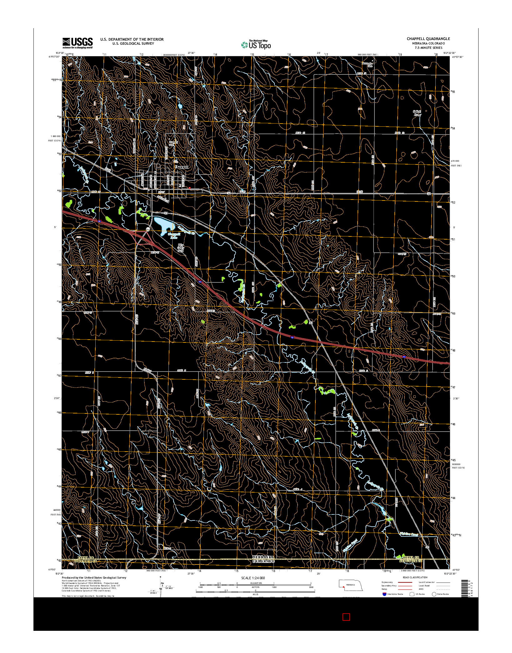 USGS US TOPO 7.5-MINUTE MAP FOR CHAPPELL, NE-CO 2014