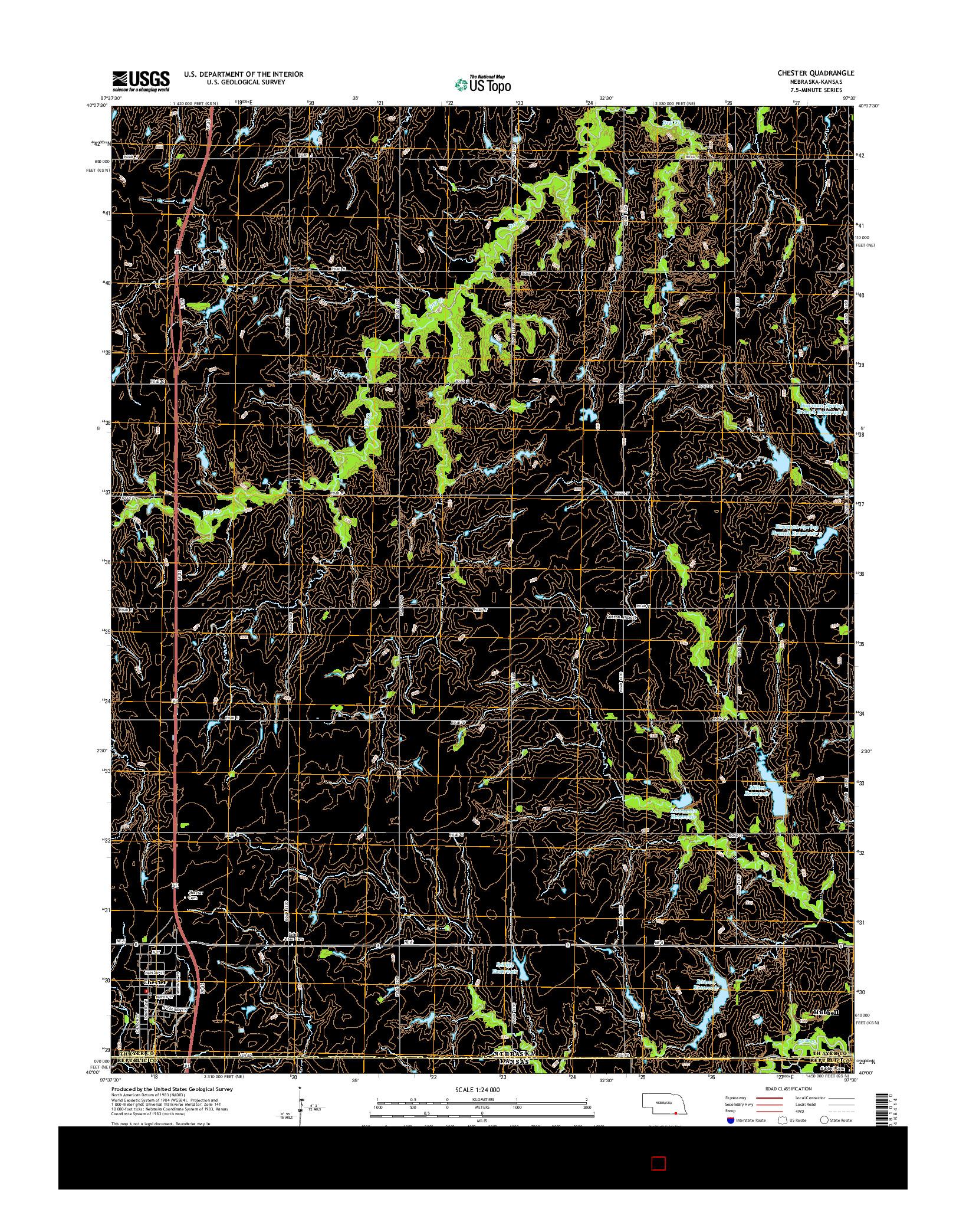 USGS US TOPO 7.5-MINUTE MAP FOR CHESTER, NE-KS 2014